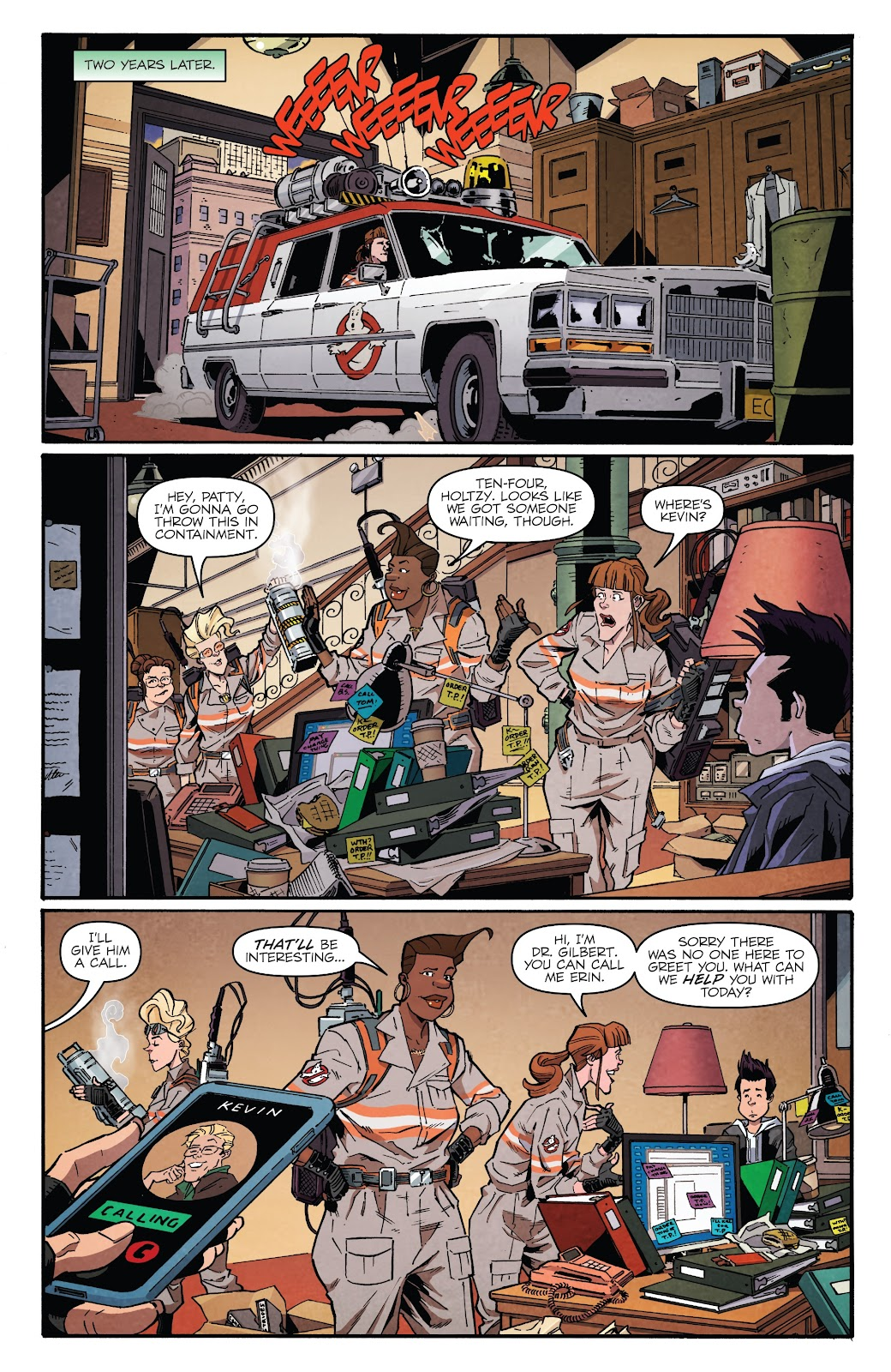 Read online Answer the Call Ghostbusters 35th Anniversary comic -  Issue # Full - 7