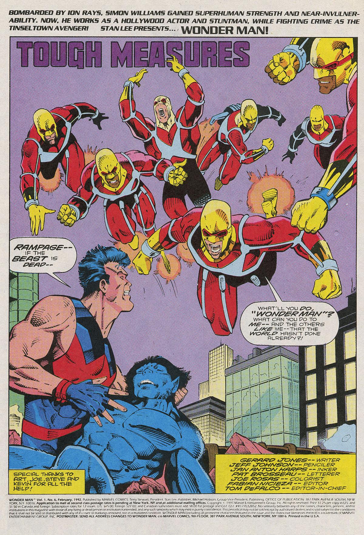 Read online Wonder Man (1991) comic -  Issue #6 - 2