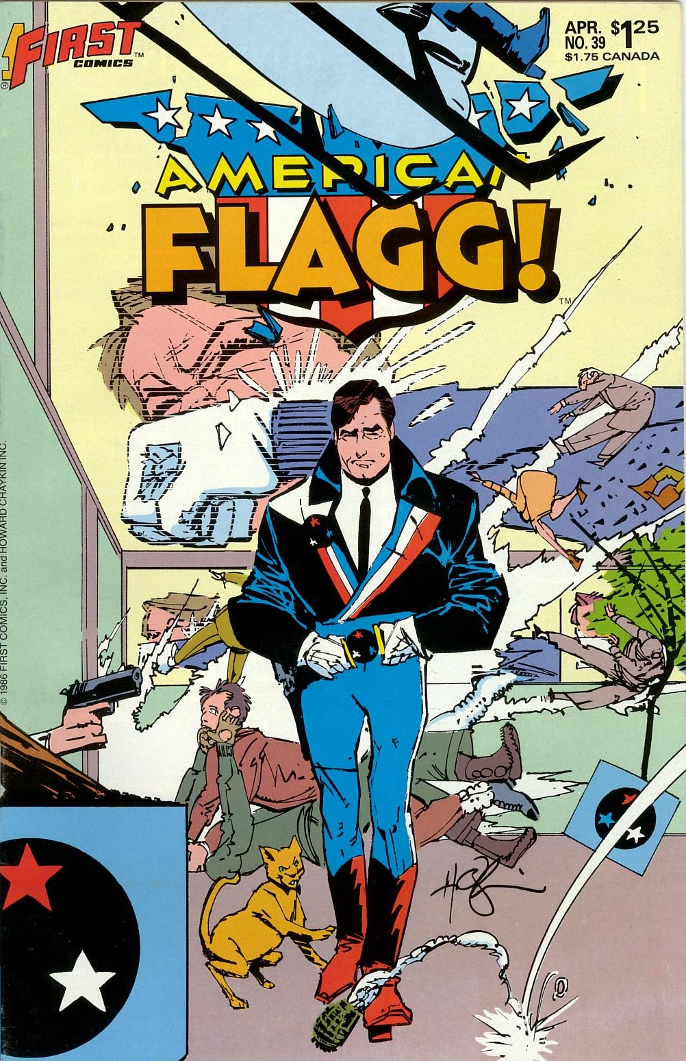 Read online American Flagg! comic -  Issue #39 - 1