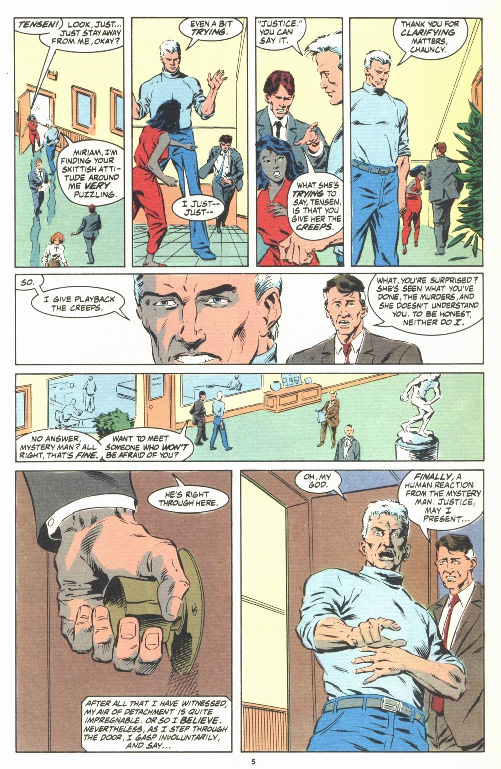 Read online Justice (1986) comic -  Issue #23 - 7