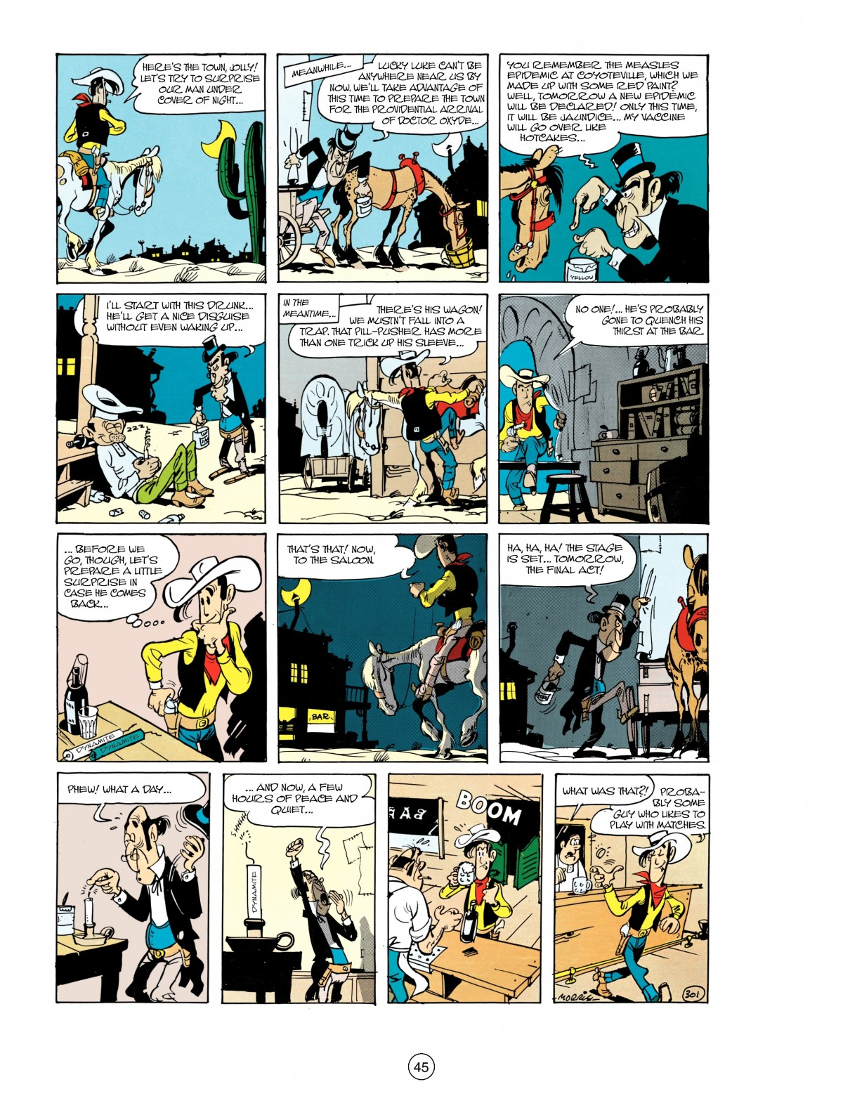 Read online A Lucky Luke Adventure comic -  Issue #38 - 45