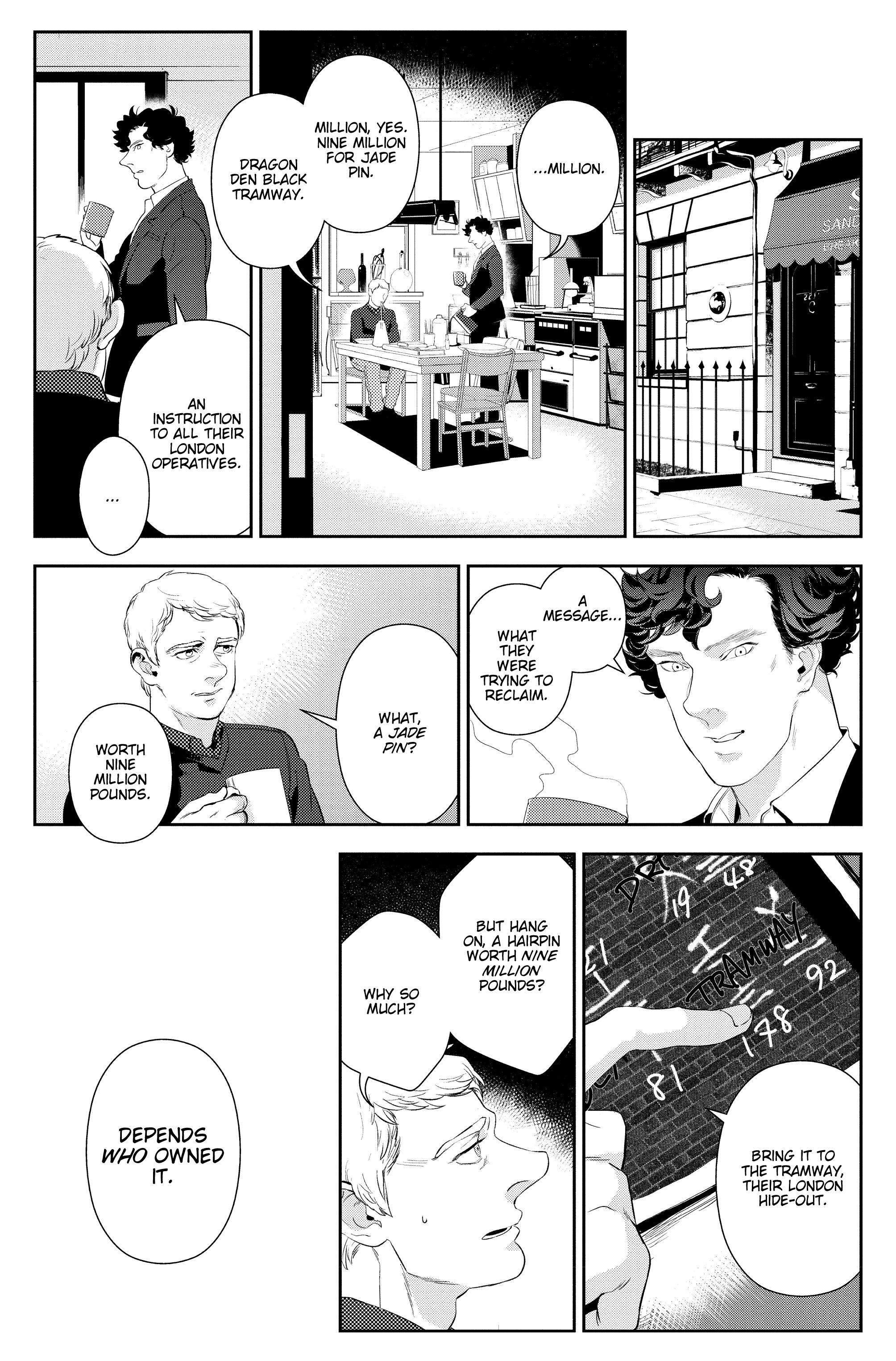 Read online Sherlock: The Blind Banker comic -  Issue #6 - 17