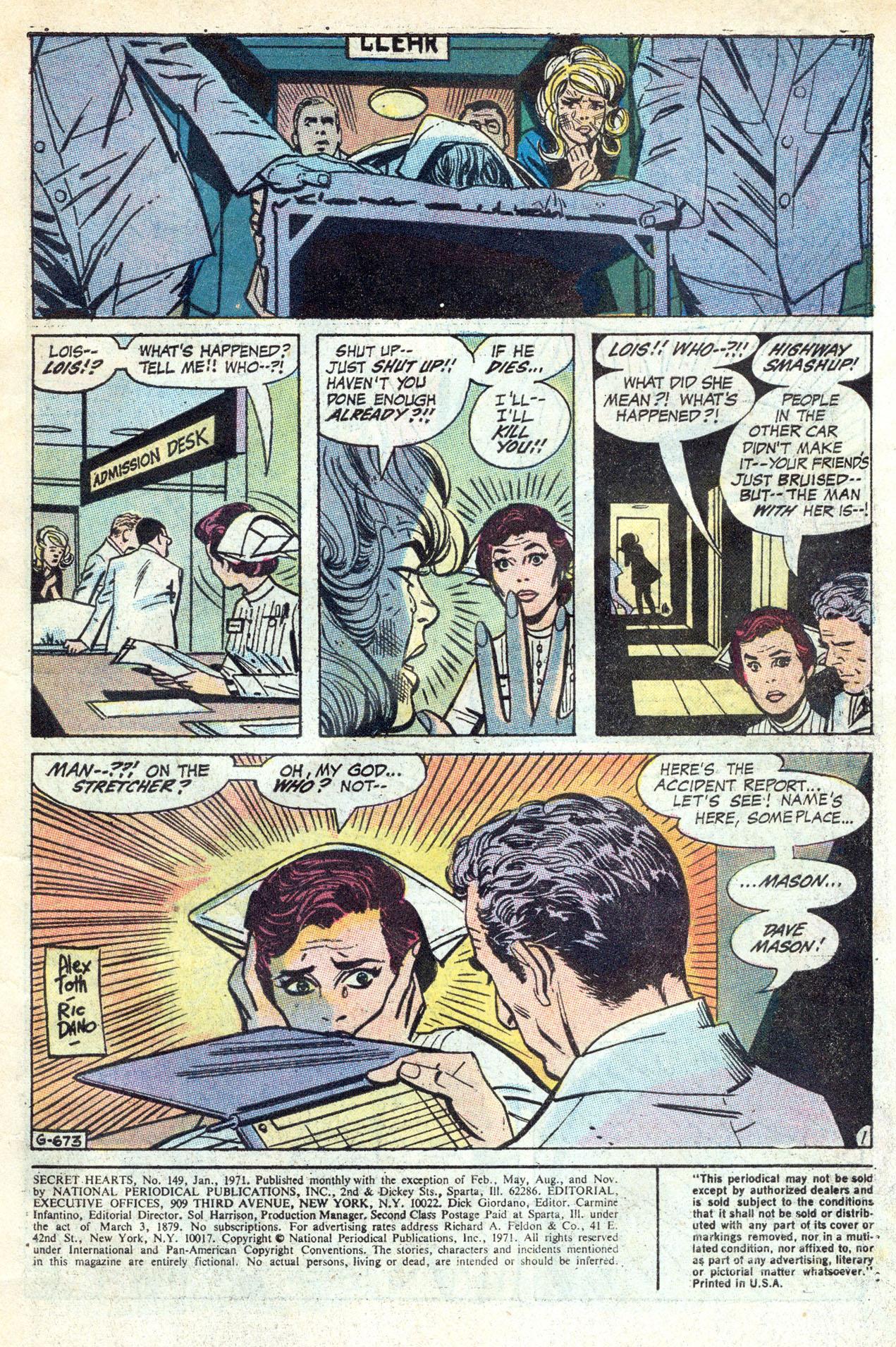 Read online Secret Hearts comic -  Issue #149 - 3