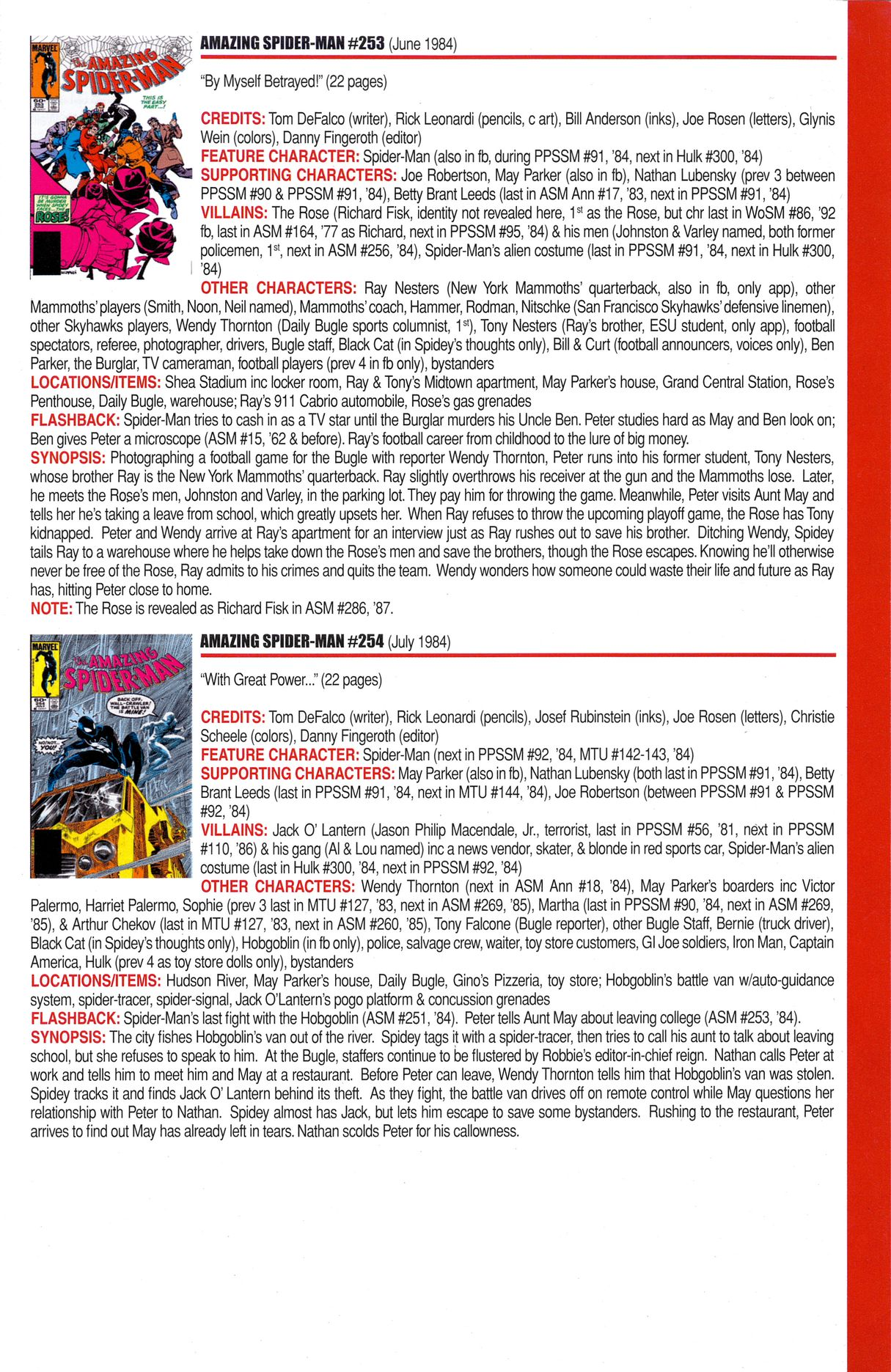 Read online Official Index to the Marvel Universe comic -  Issue #6 - 7