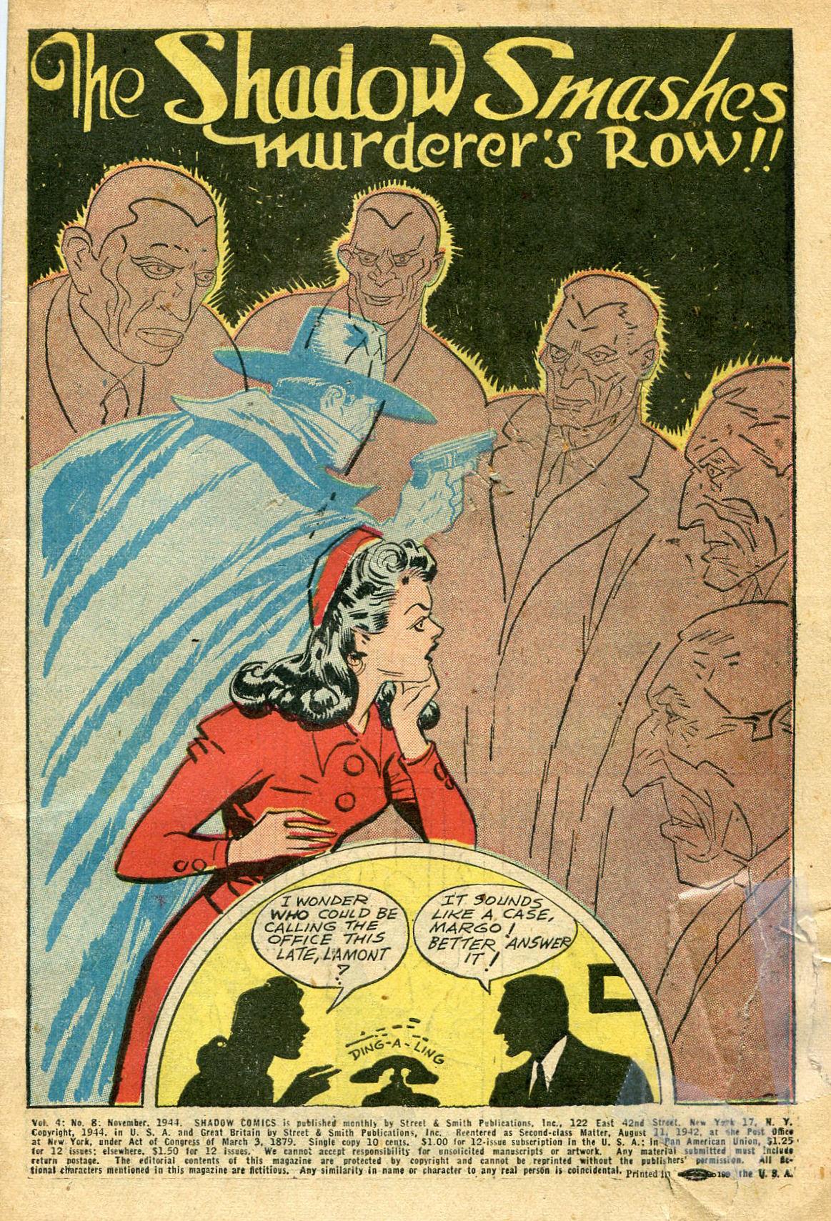 Read online Shadow Comics comic -  Issue #44 - 2