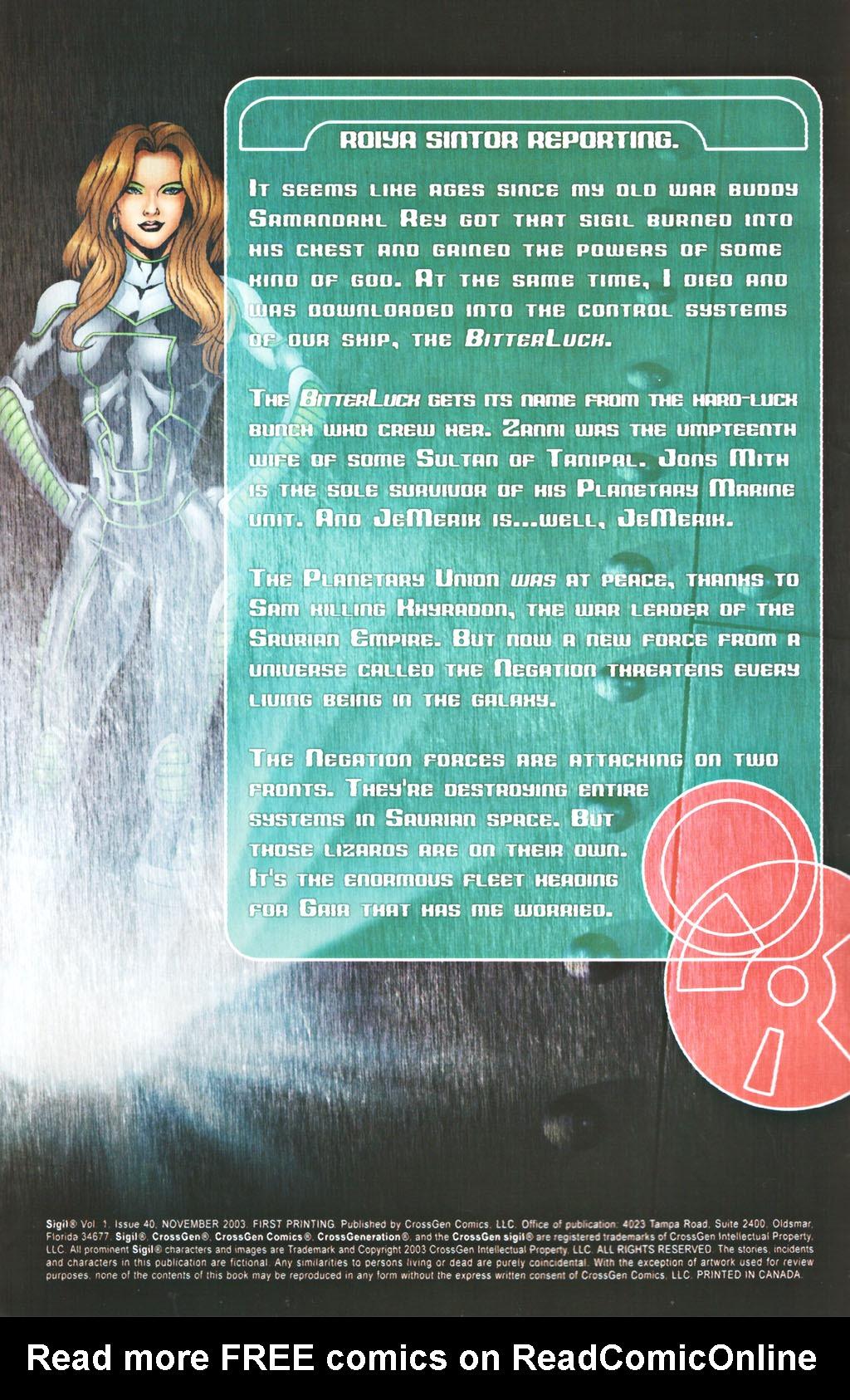 Read online Sigil (2000) comic -  Issue #40 - 2