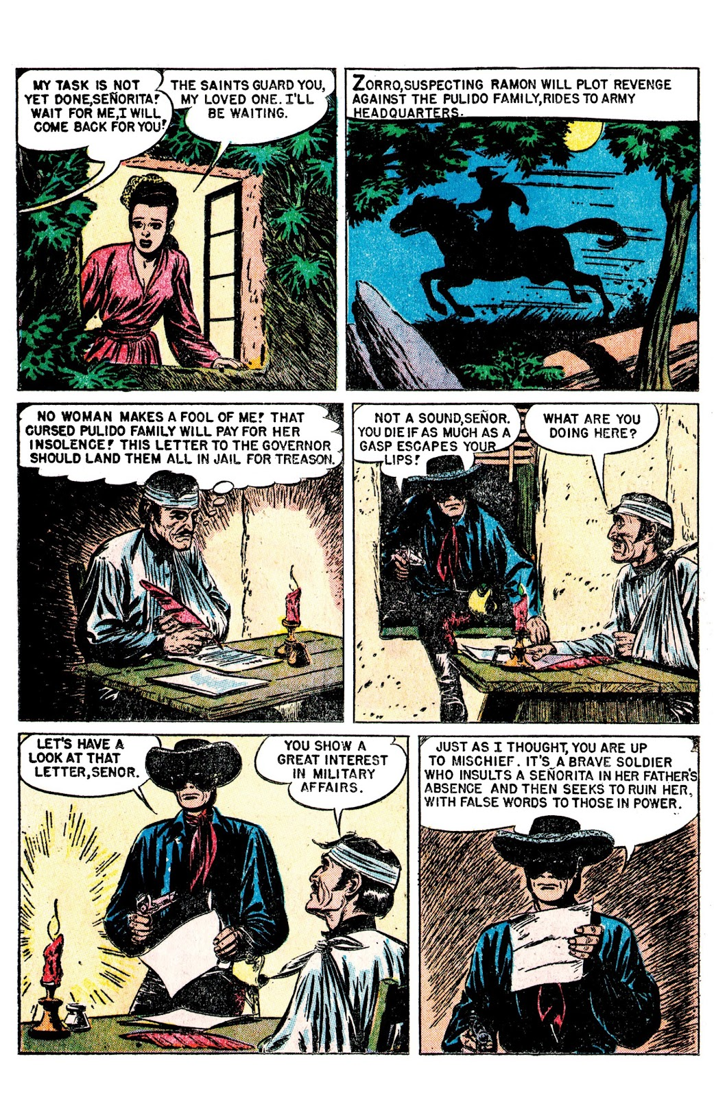 Read online AM Archives: The Mark of Zorro #1 1949 Dell Edition comic -  Issue #1 1949 Dell Edition Full - 20