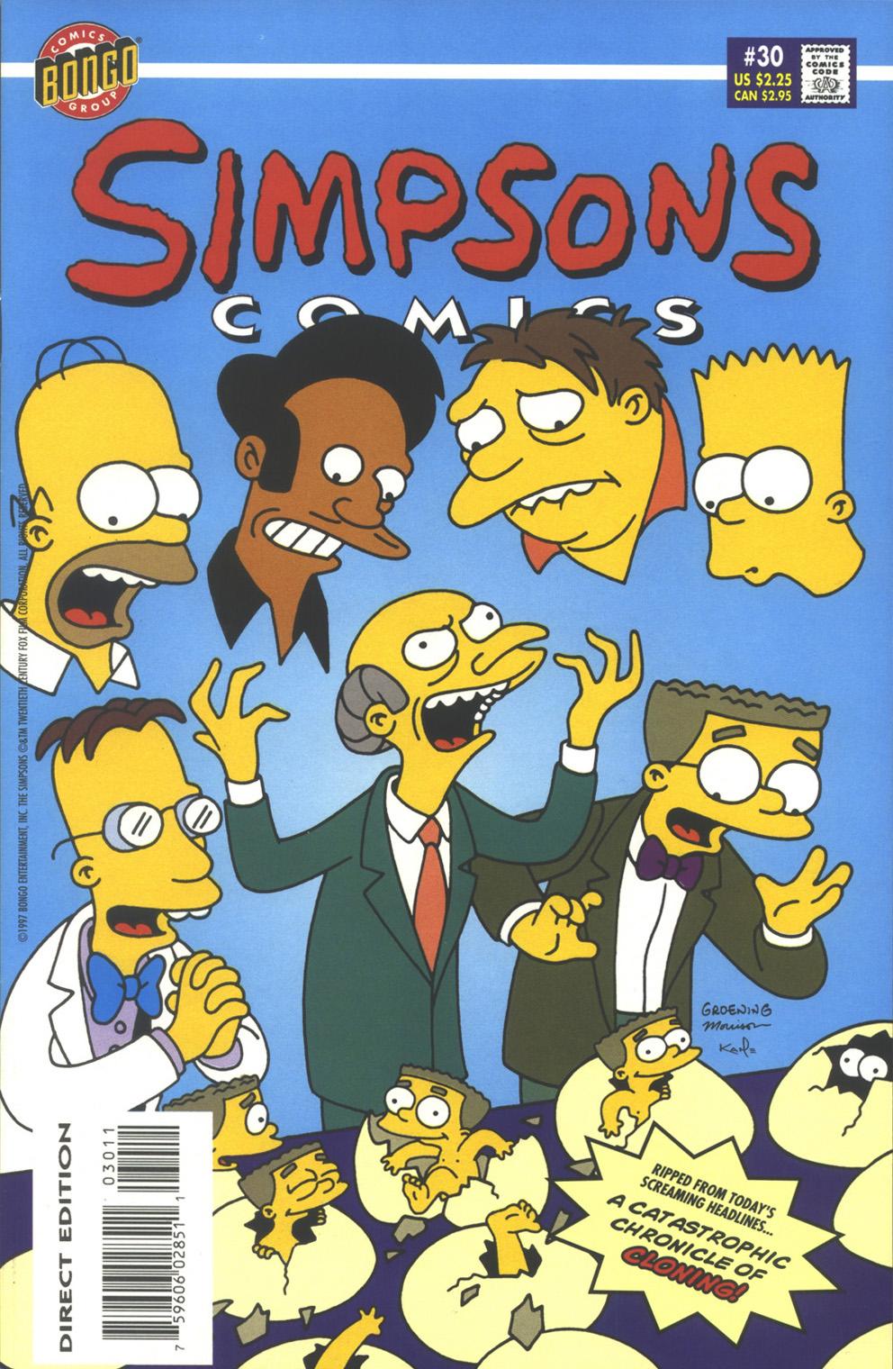 Read online Simpsons Comics comic -  Issue #30 - 1