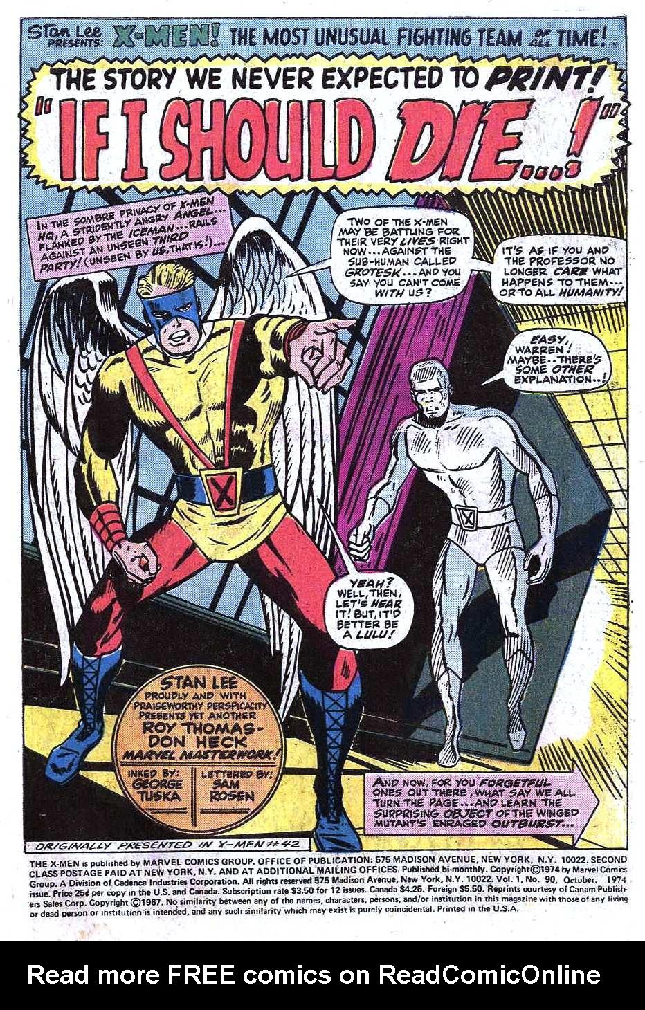 Uncanny X-Men (1963) 90 Page 2