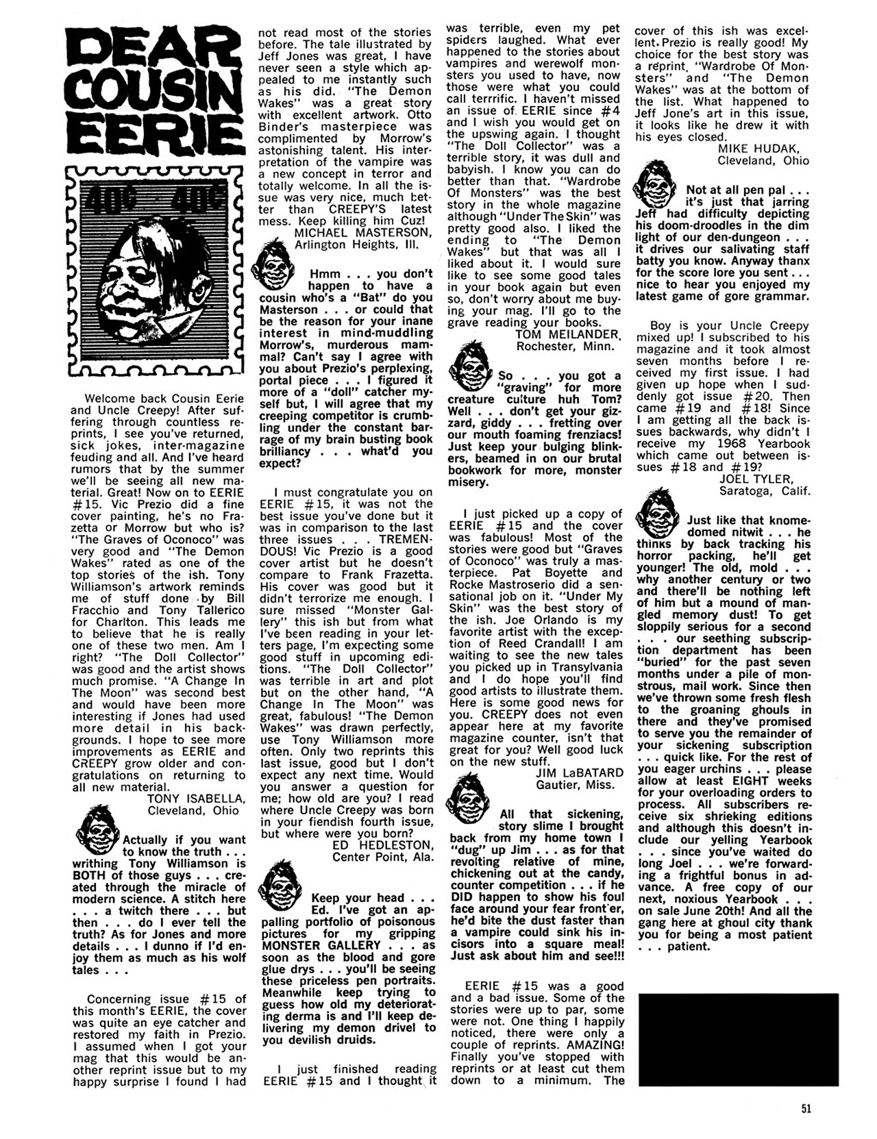 Read online Eerie Archives comic -  Issue # TPB 4 - 52