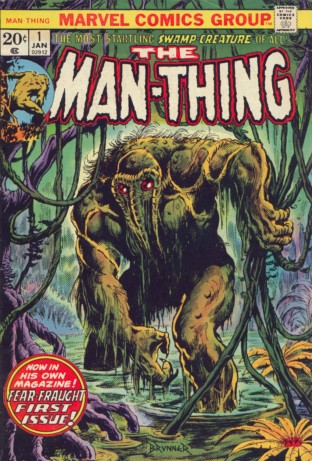 Man-Thing (1974) issue 1 - Page 1
