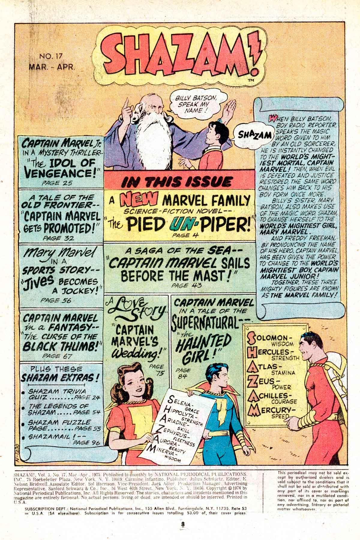 Read online Shazam! (1973) comic -  Issue #17 - 3
