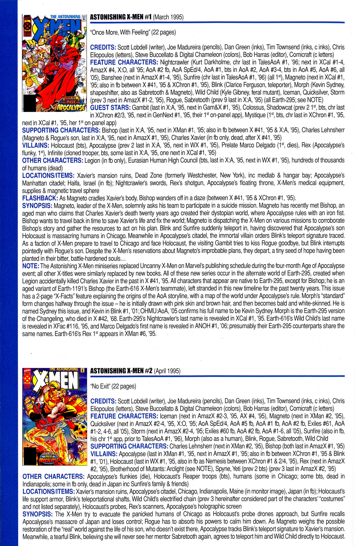 Read online Official Index to the Marvel Universe comic -  Issue #8 - 56