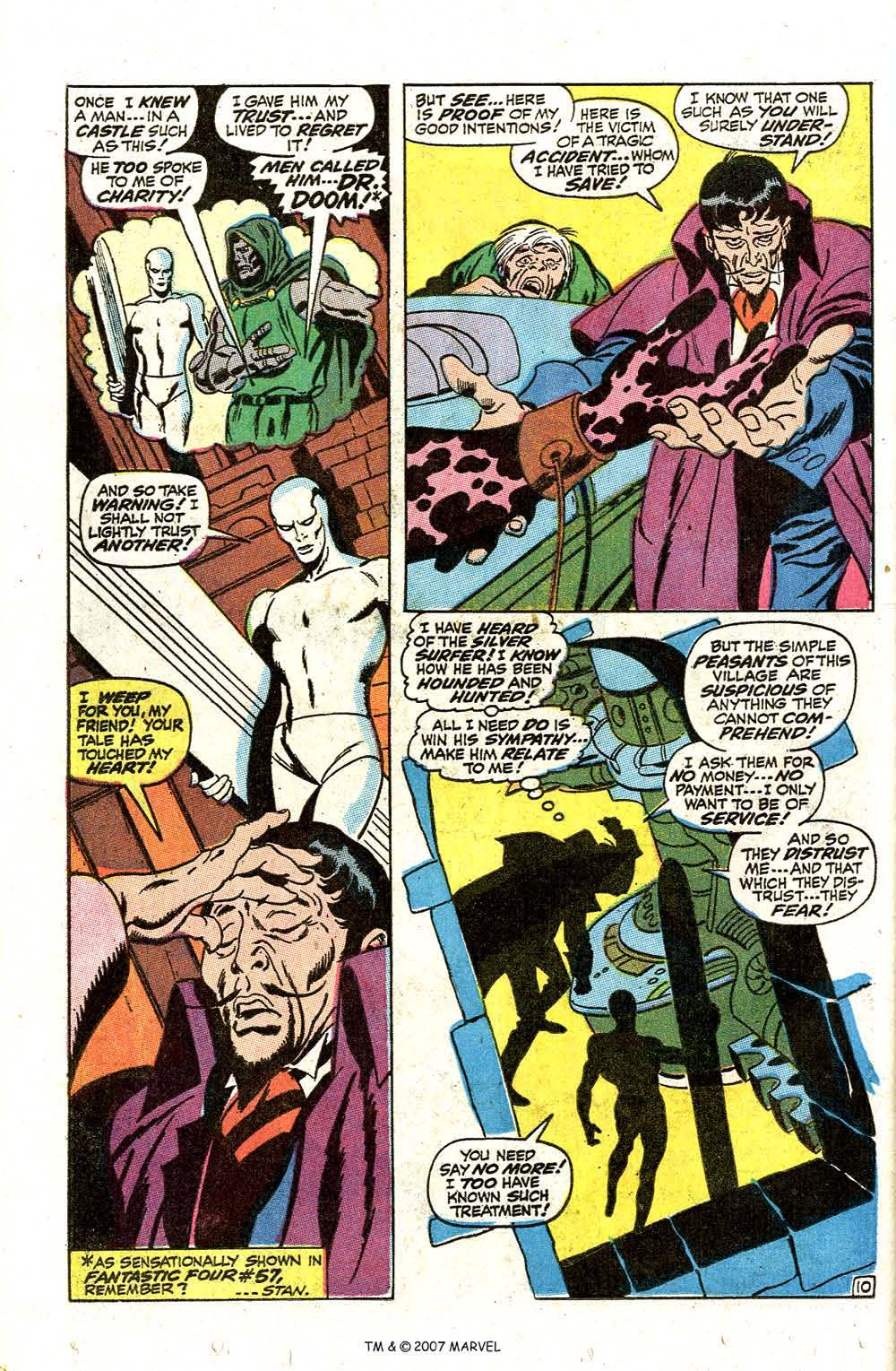Read online Silver Surfer (1968) comic -  Issue #7 - 12