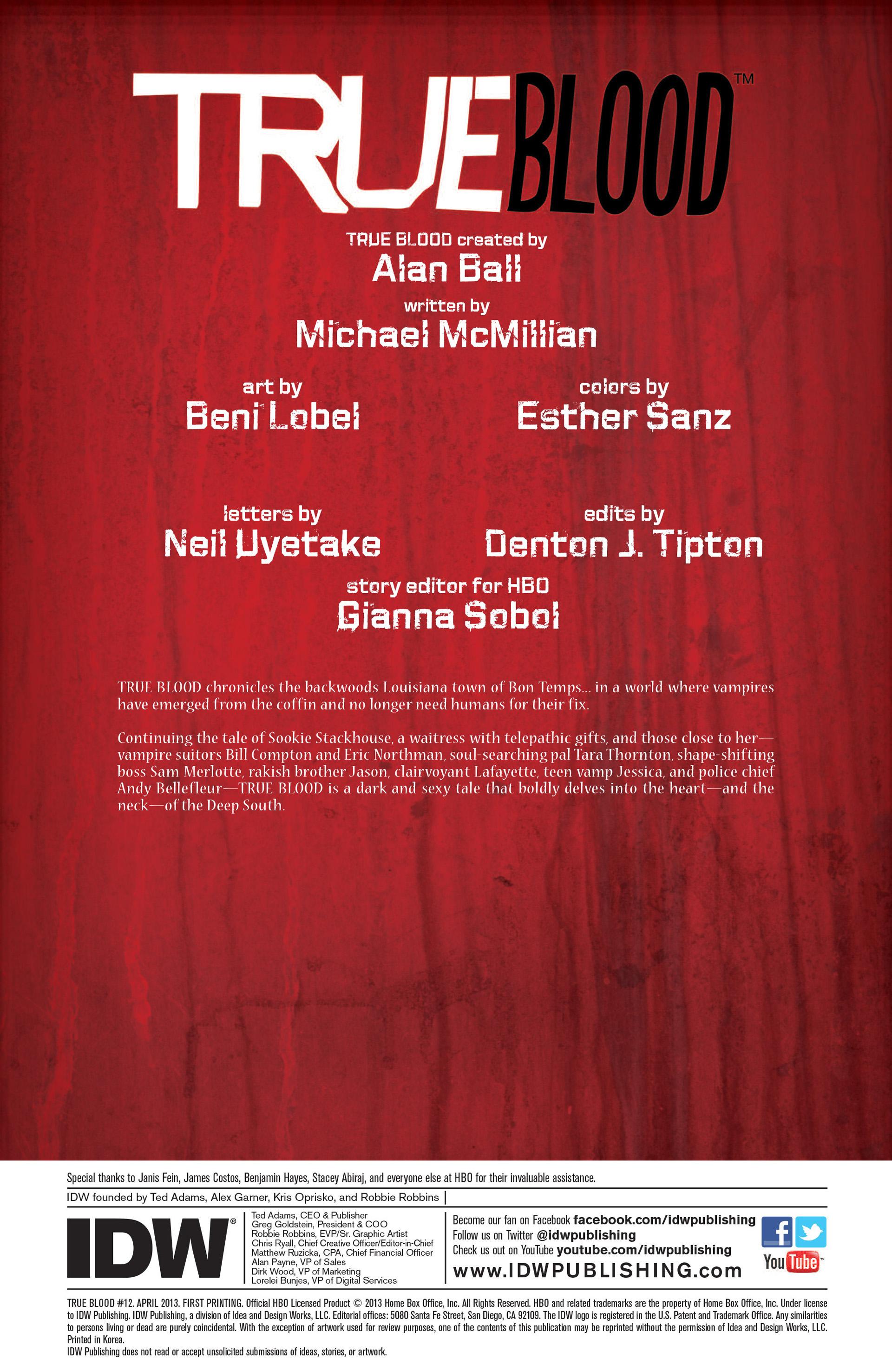 Read online True Blood (2012) comic -  Issue #12 - 2
