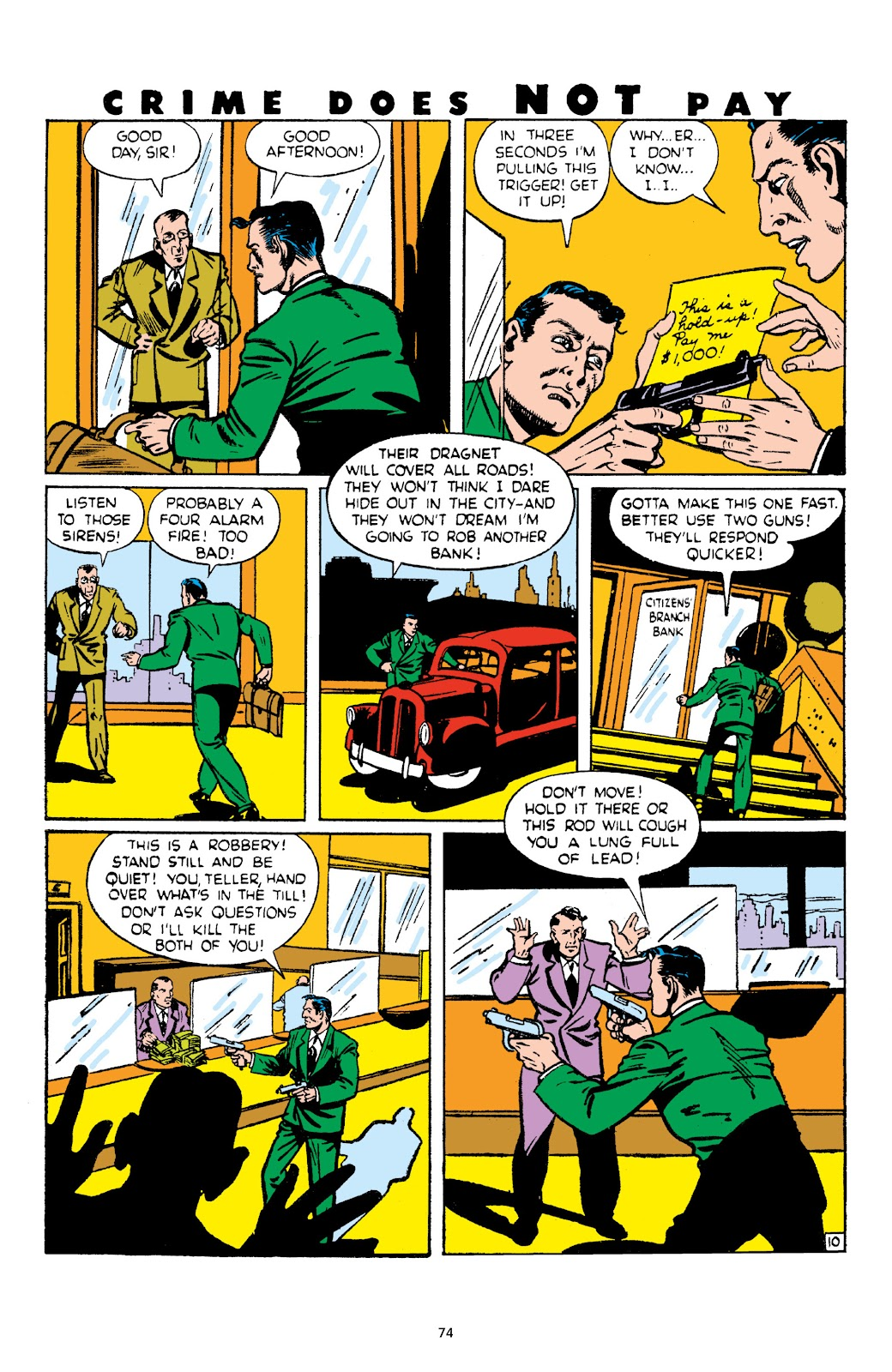 Read online Crime Does Not Pay Archives comic -  Issue # TPB 4 (Part 1) - 74