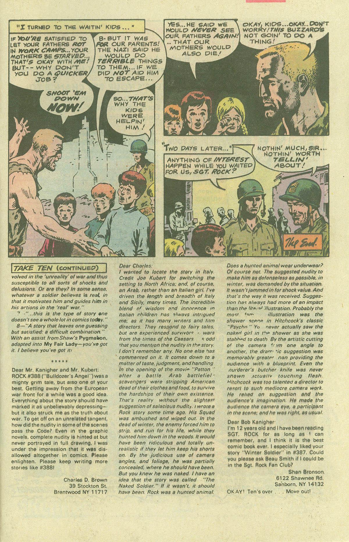 Read online Sgt. Rock comic -  Issue #396 - 30