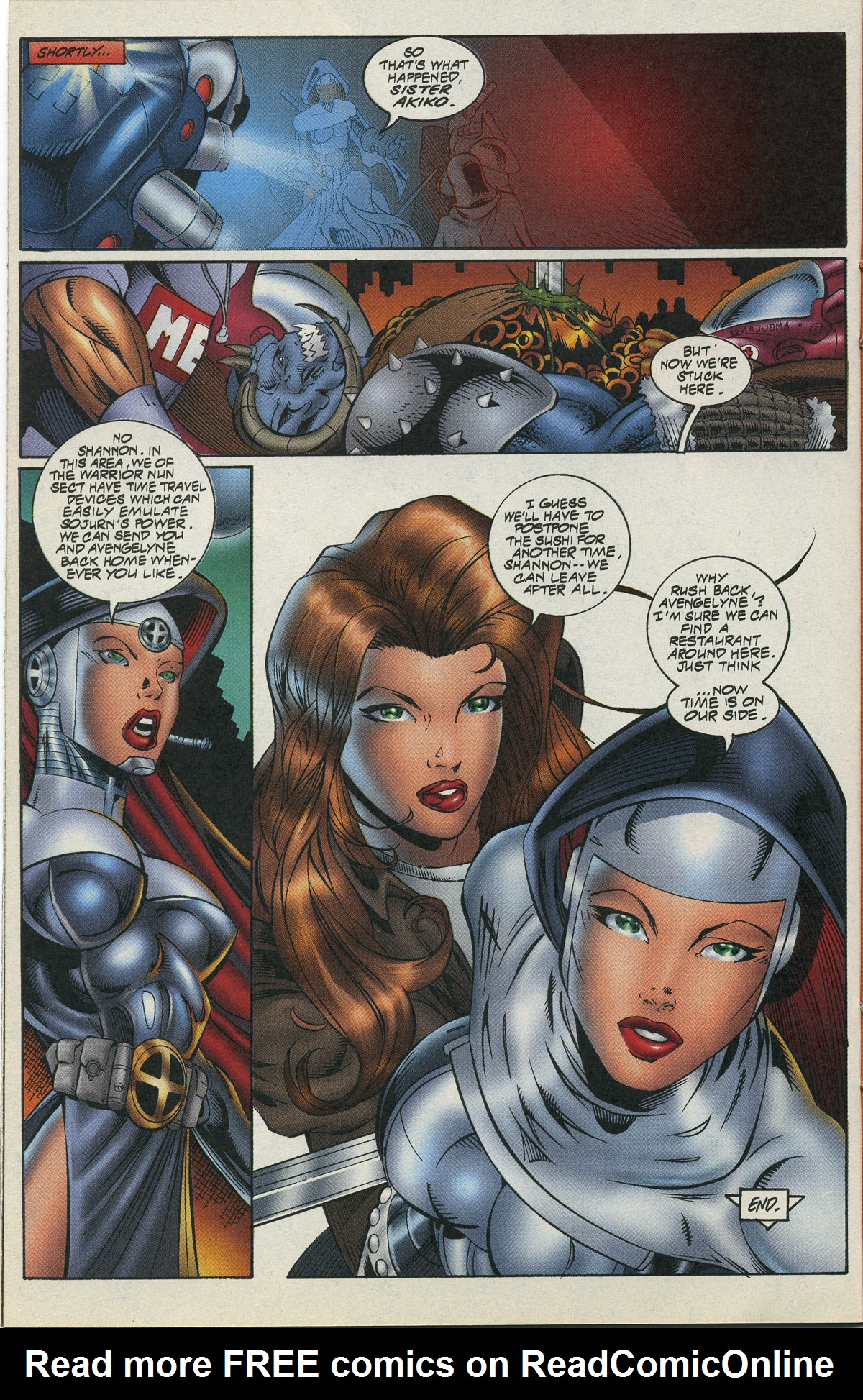 Read online Avengelyne/Warrior Nun Areala comic -  Issue # Full - 23