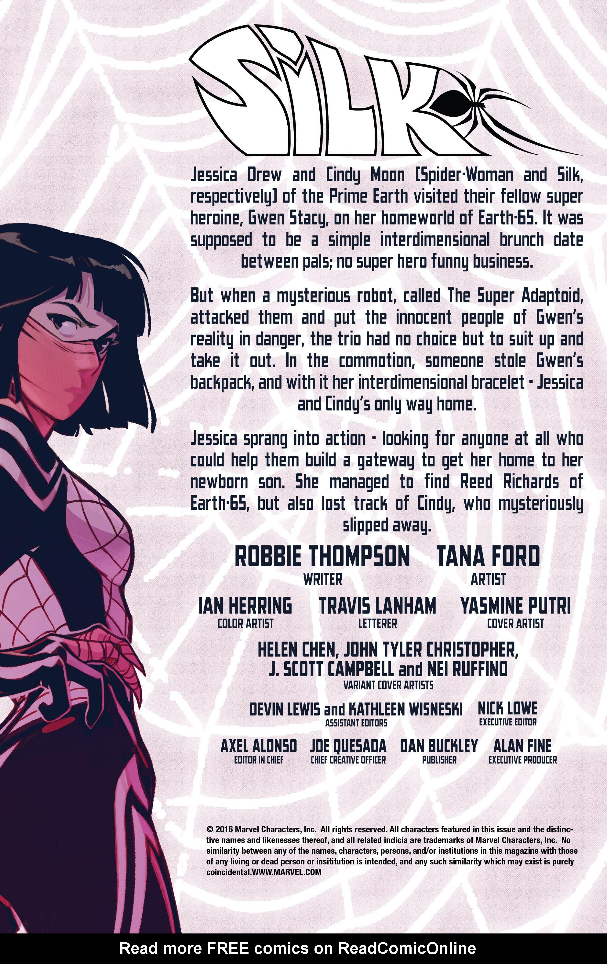 Read online Silk (2016) comic -  Issue #7 - 5