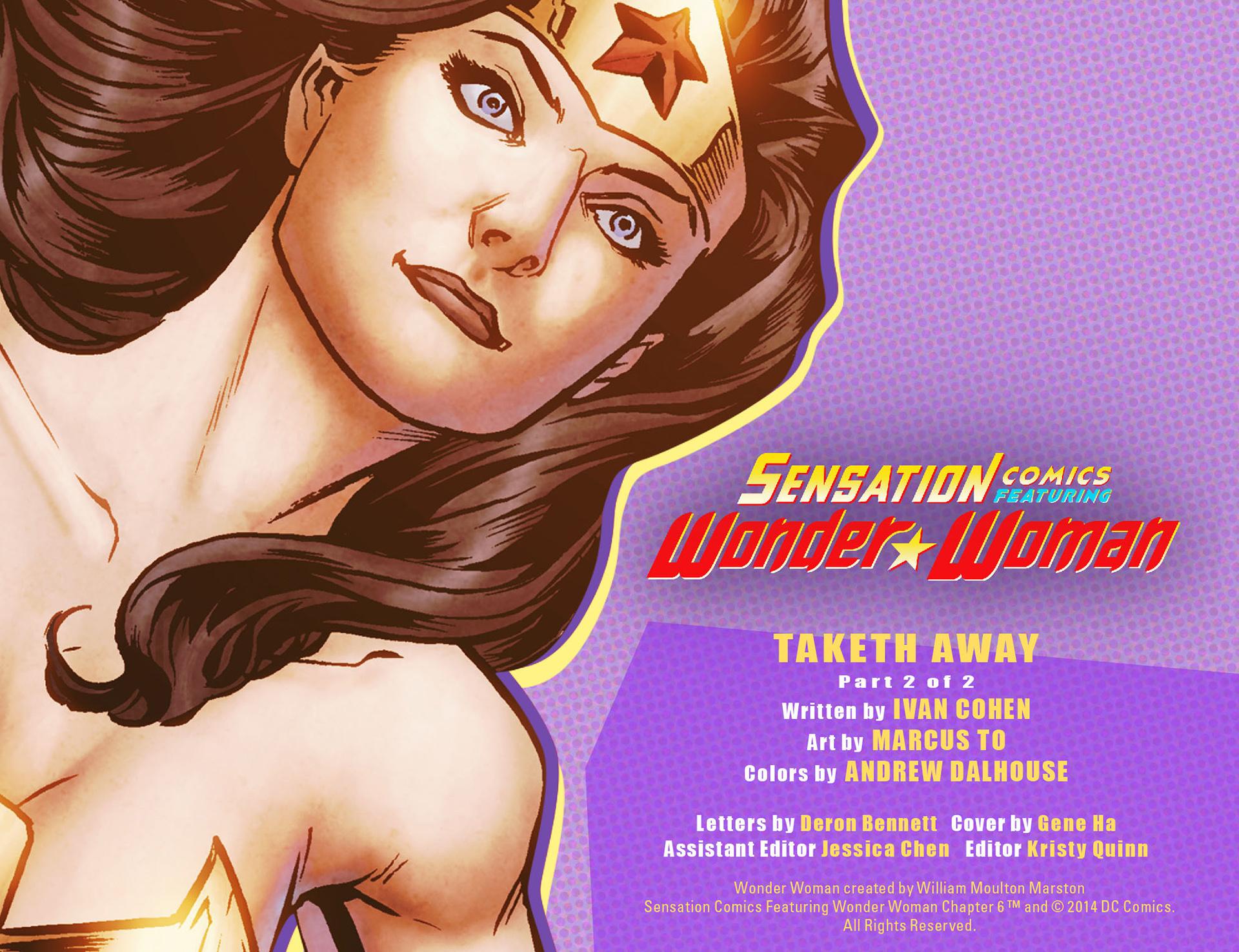 Read online Sensation Comics Featuring Wonder Woman comic -  Issue #6 - 2