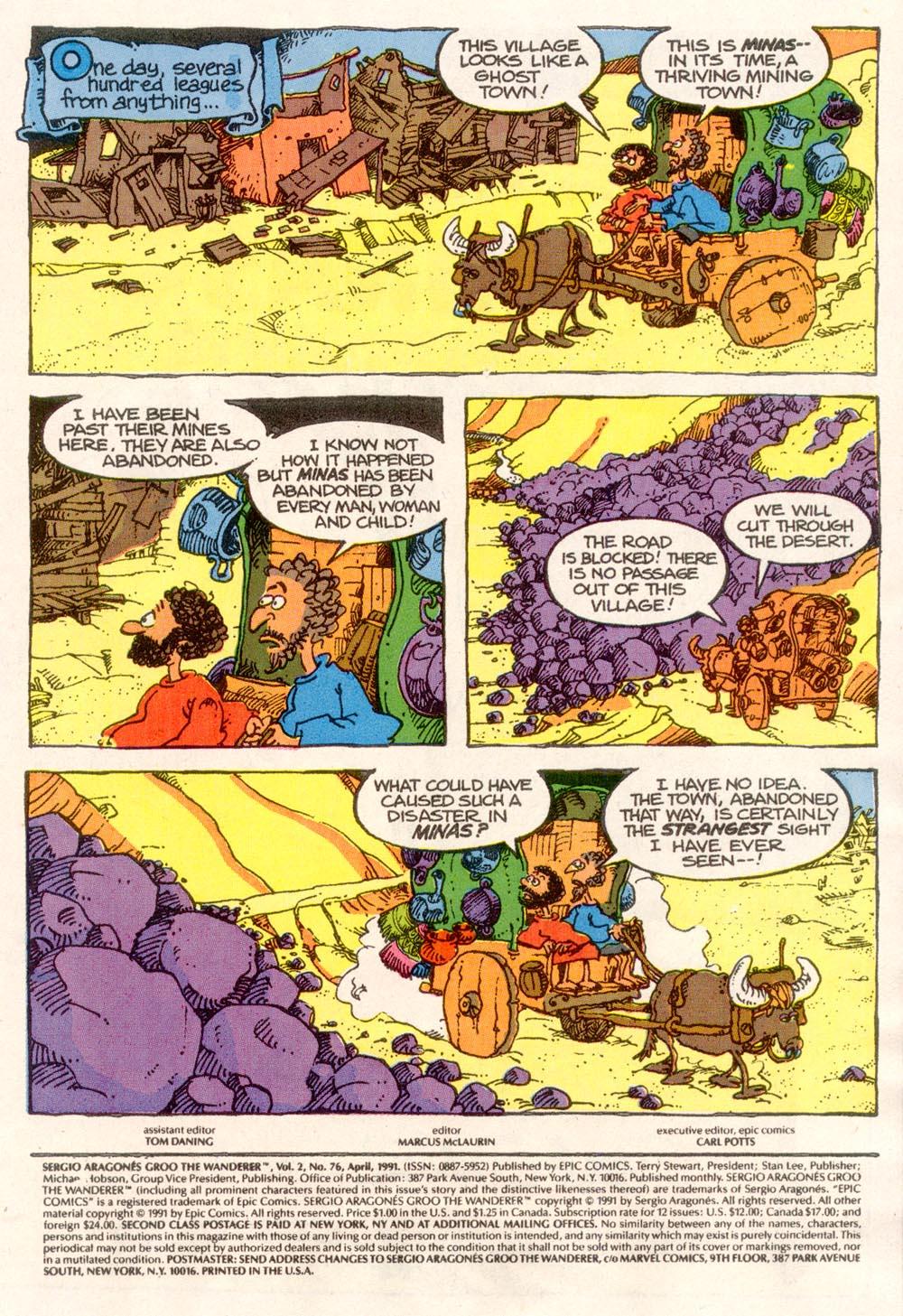 Read online Sergio Aragonés Groo the Wanderer comic -  Issue #76 - 2