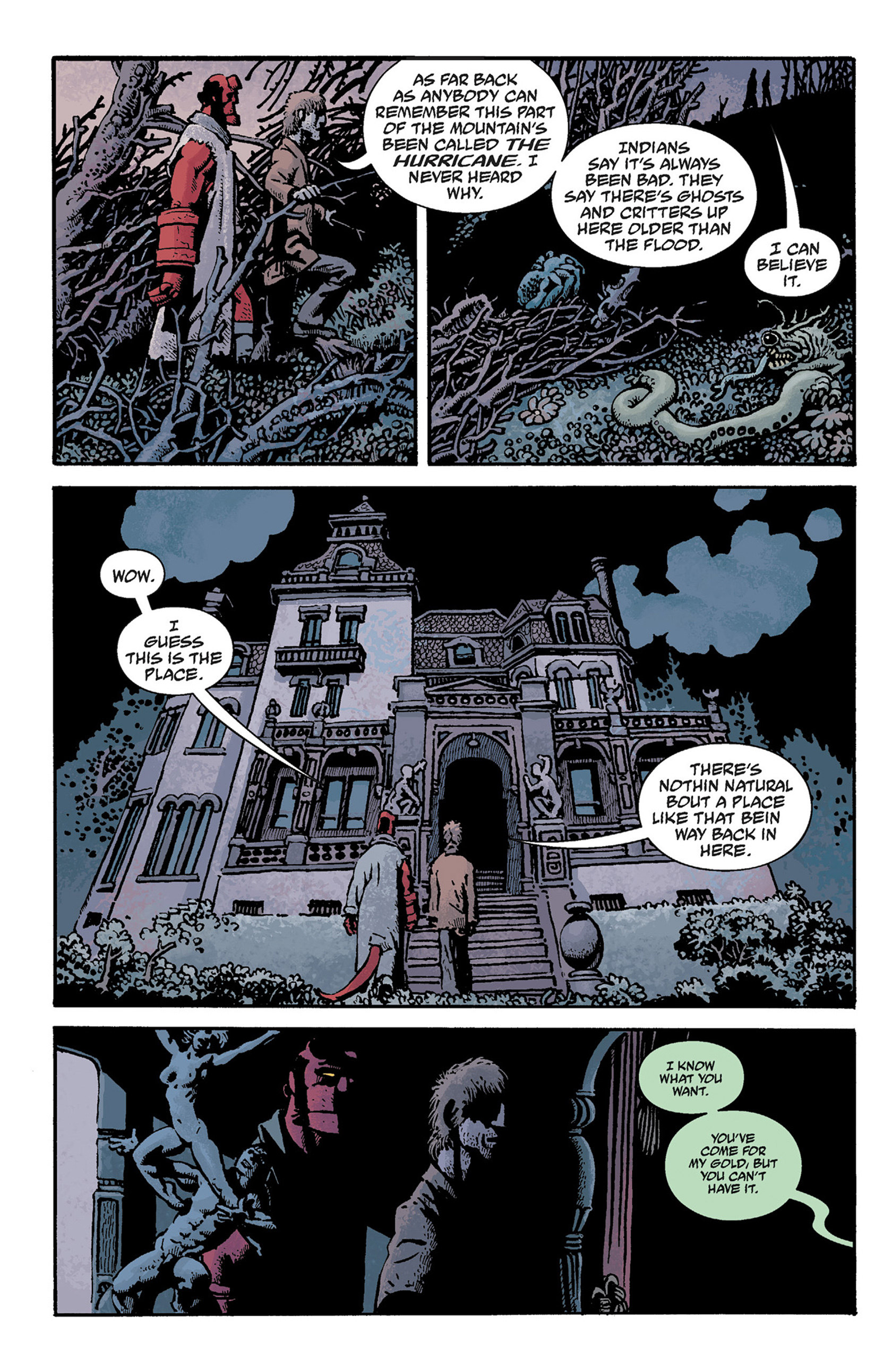 Read online Hellboy: The Crooked Man and Others comic -  Issue # TPB - 78