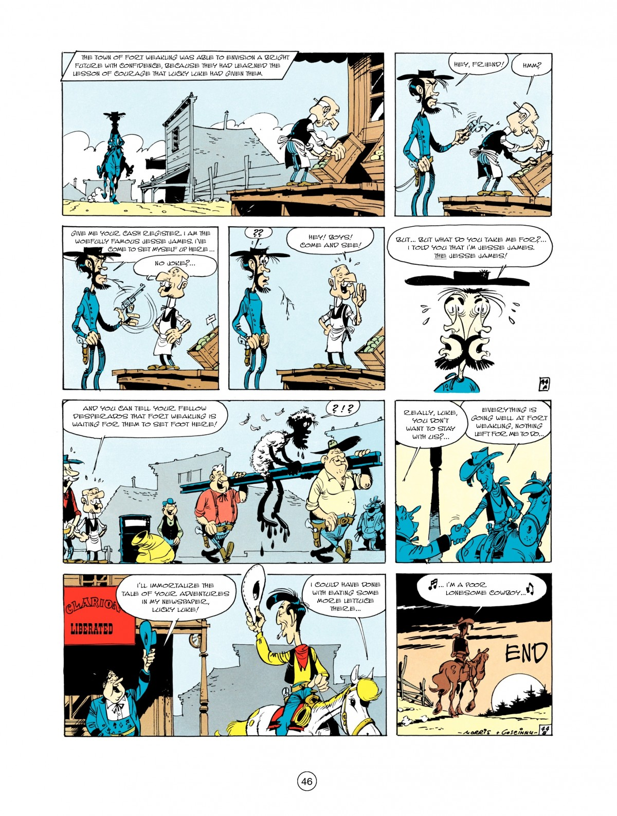 Read online A Lucky Luke Adventure comic -  Issue #1 - 48