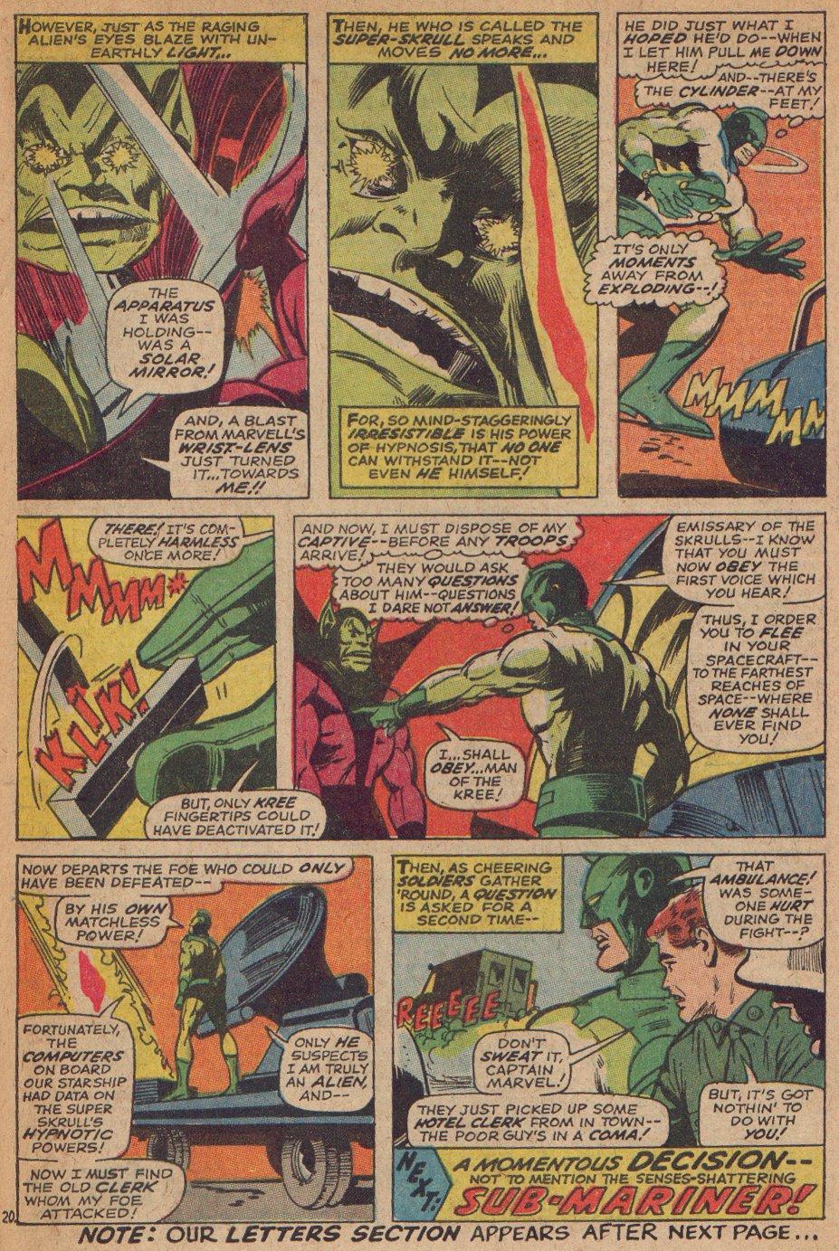 Captain Marvel (1968) Issue #3 #3 - English 21