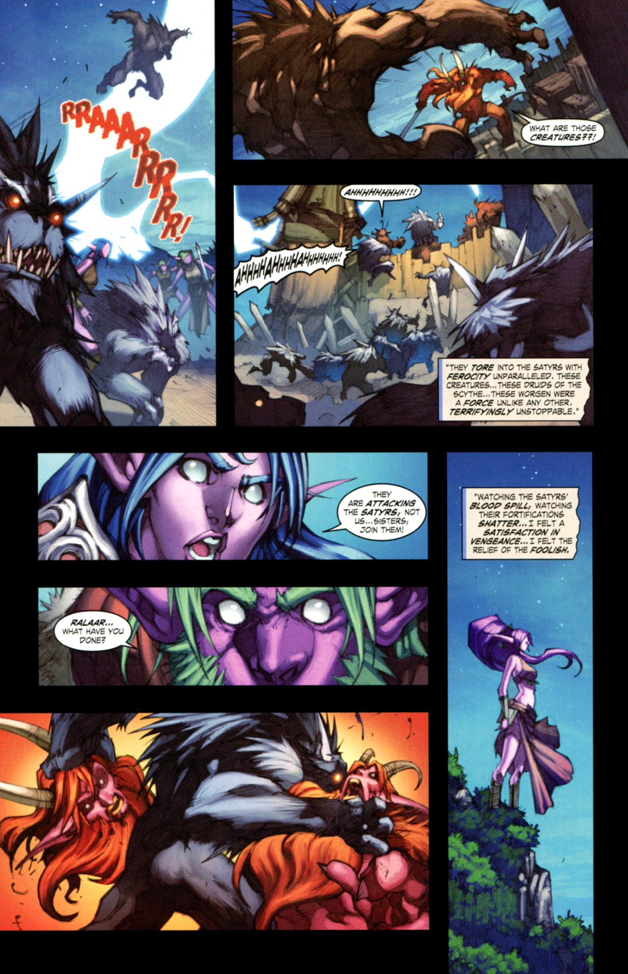 Read online World of Warcraft: Curse of the Worgen comic -  Issue #3 - 20