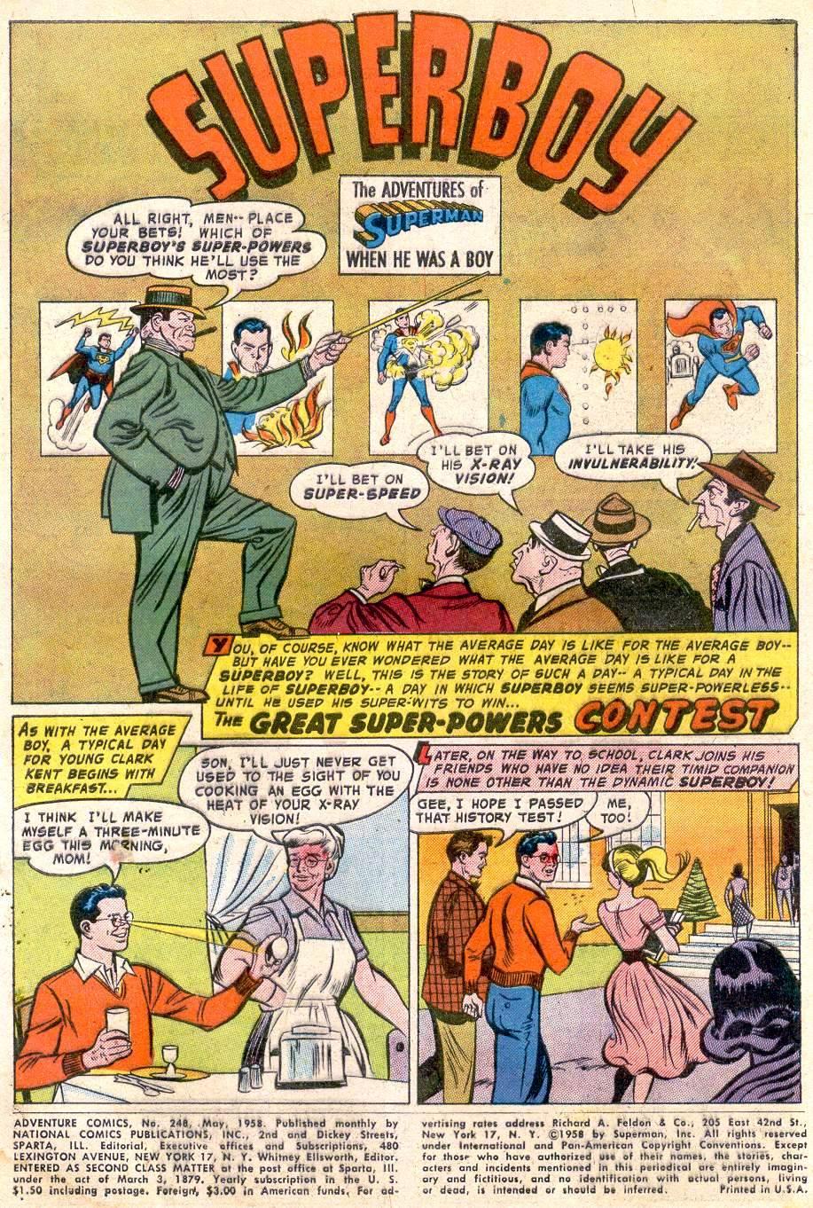 Read online Adventure Comics (1938) comic -  Issue #248 - 3