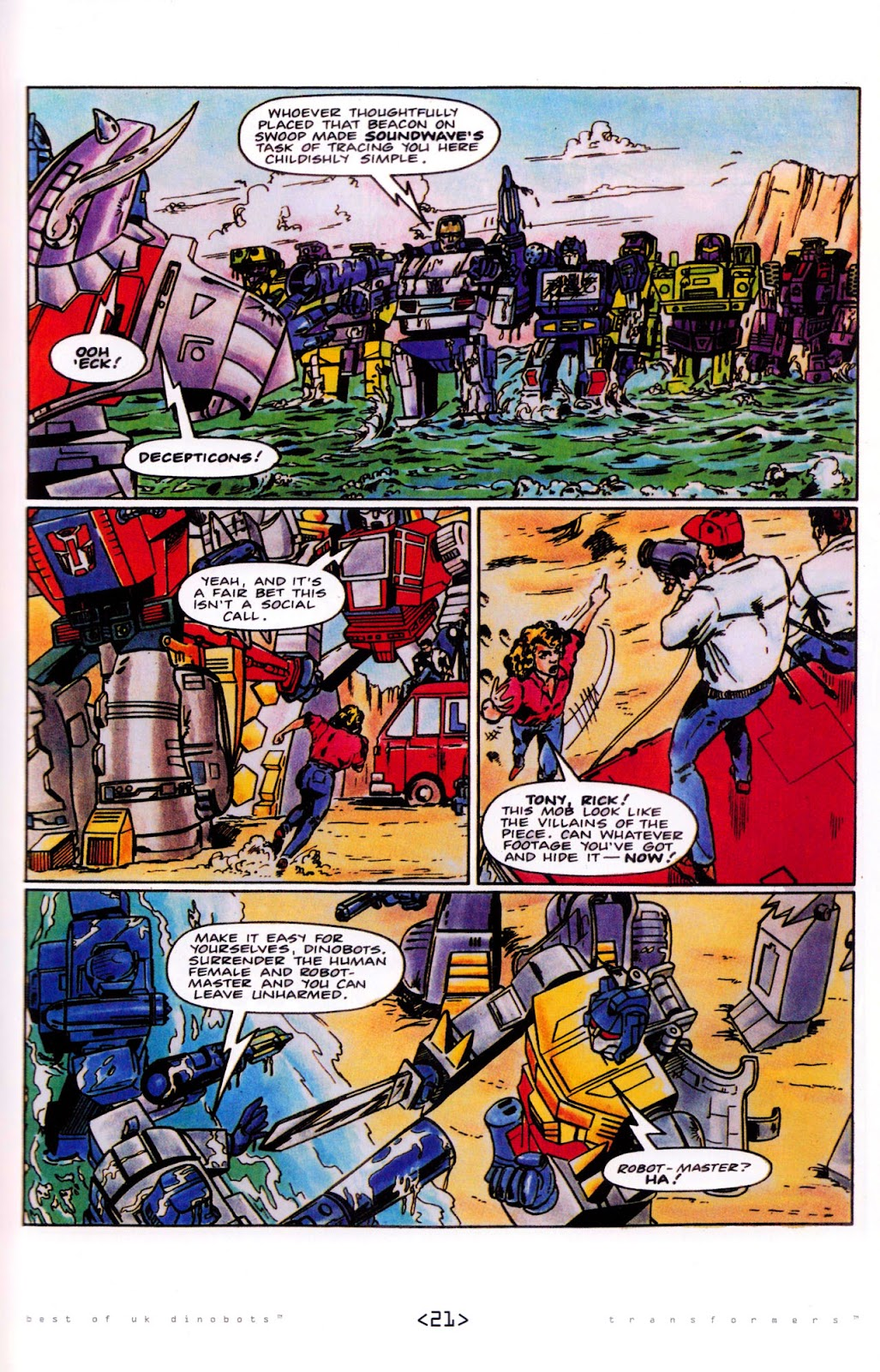 Read online The Transformers: Best of UK: Dinobots comic -  Issue #5 - 23