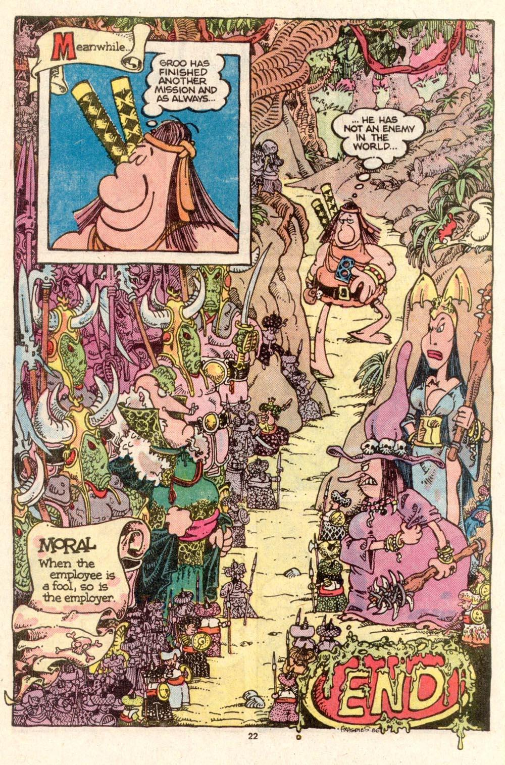 Read online Sergio Aragonés Groo the Wanderer comic -  Issue #26 - 23