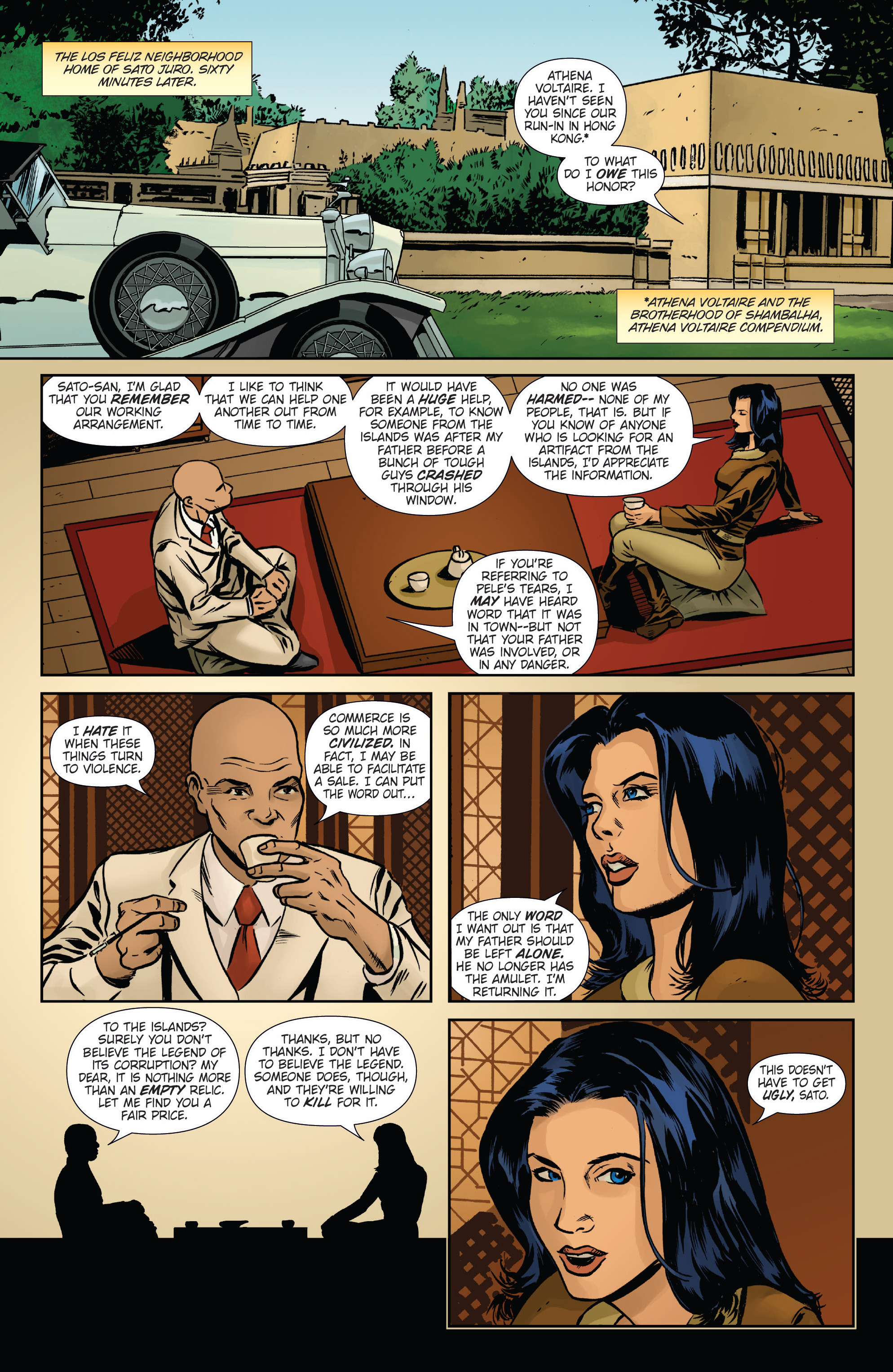 Read online Athena Voltaire and the Volcano Goddess comic -  Issue #2 - 13