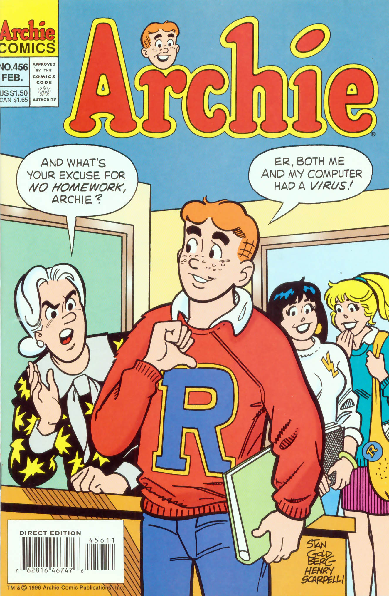 Read online Archie (1960) comic -  Issue #456 - 1