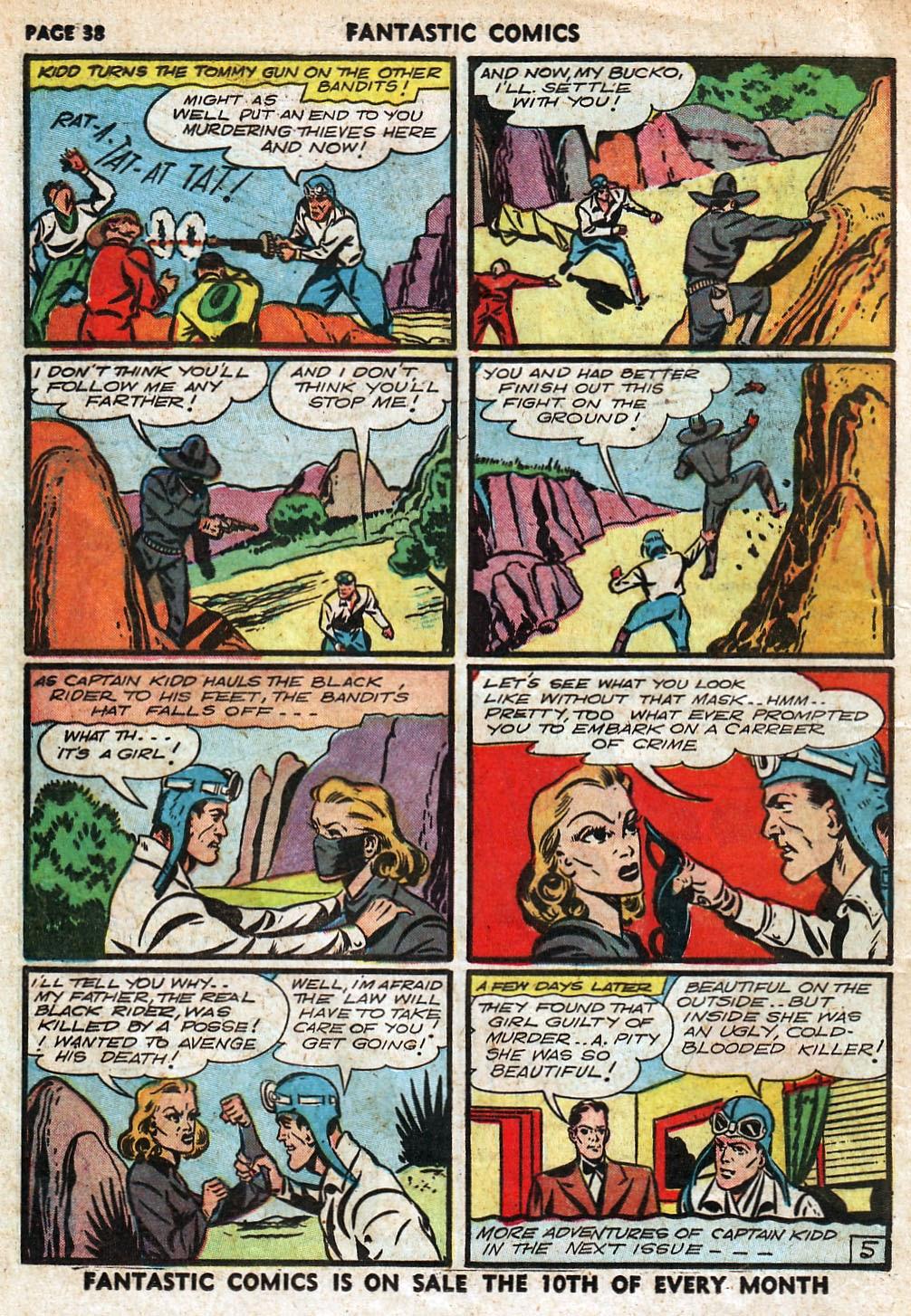 Read online Fantastic Comics comic -  Issue #18 - 40