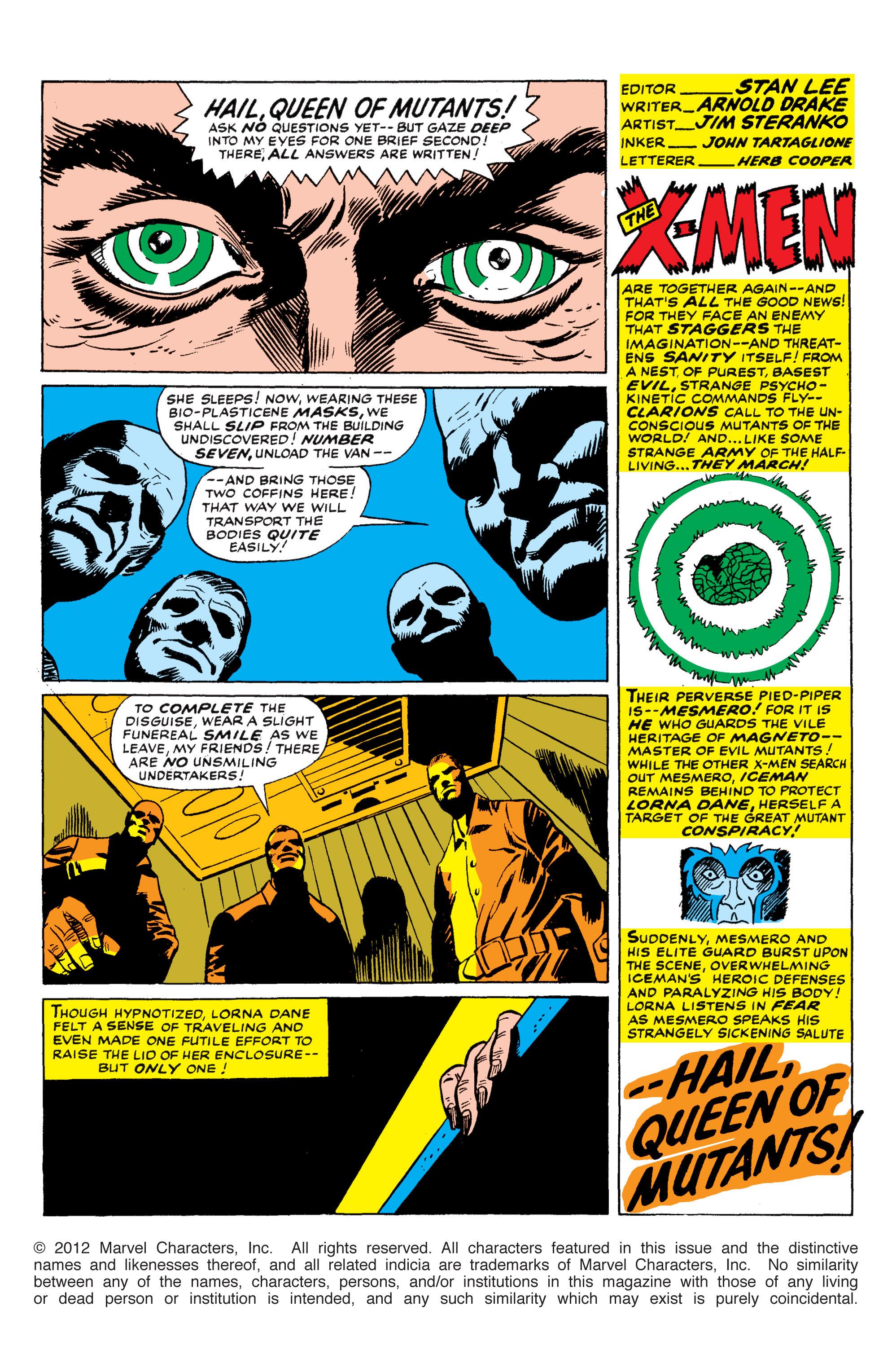 Read online Uncanny X-Men (1963) comic -  Issue #50 - 2