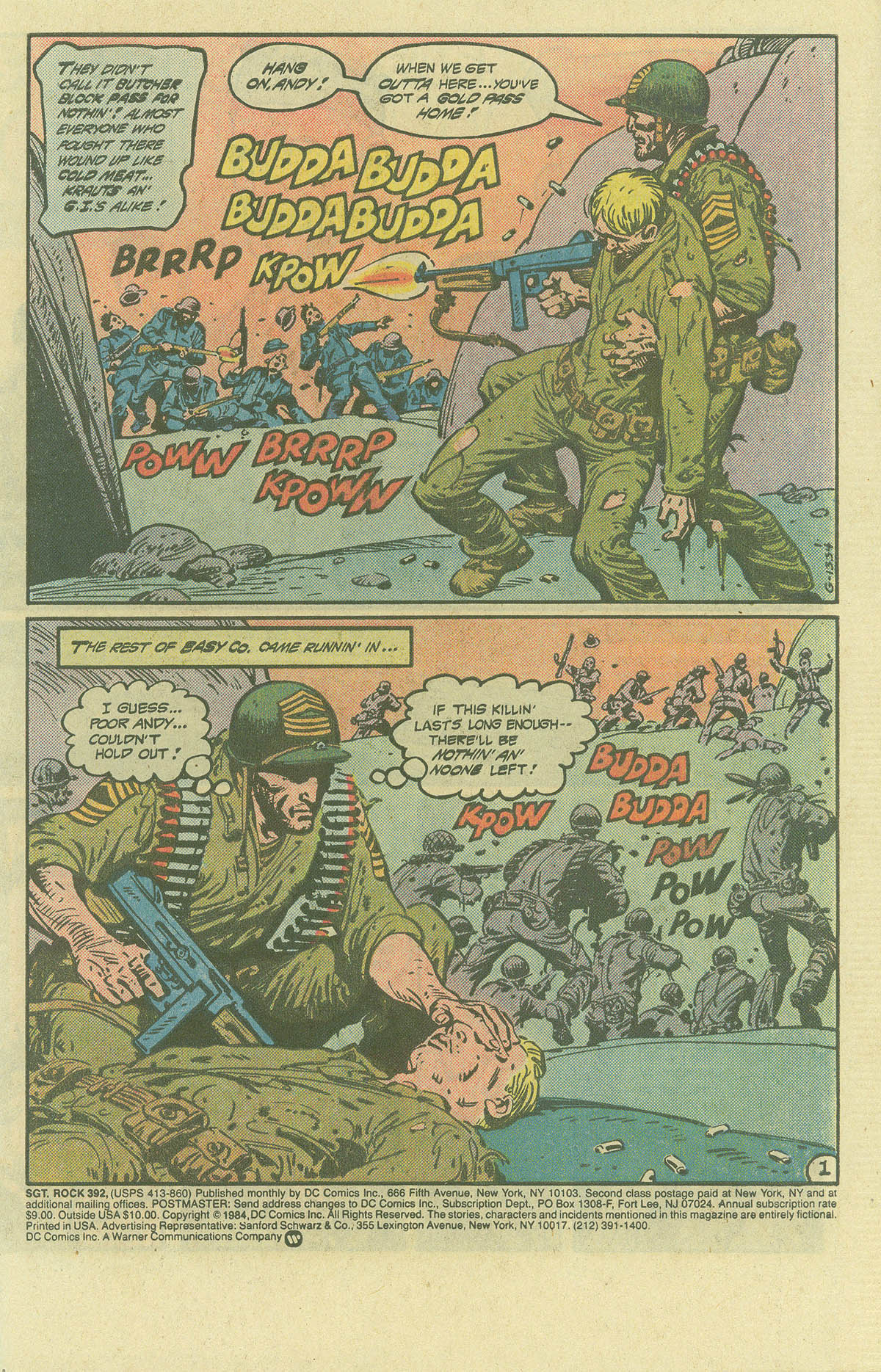 Read online Sgt. Rock comic -  Issue #392 - 2