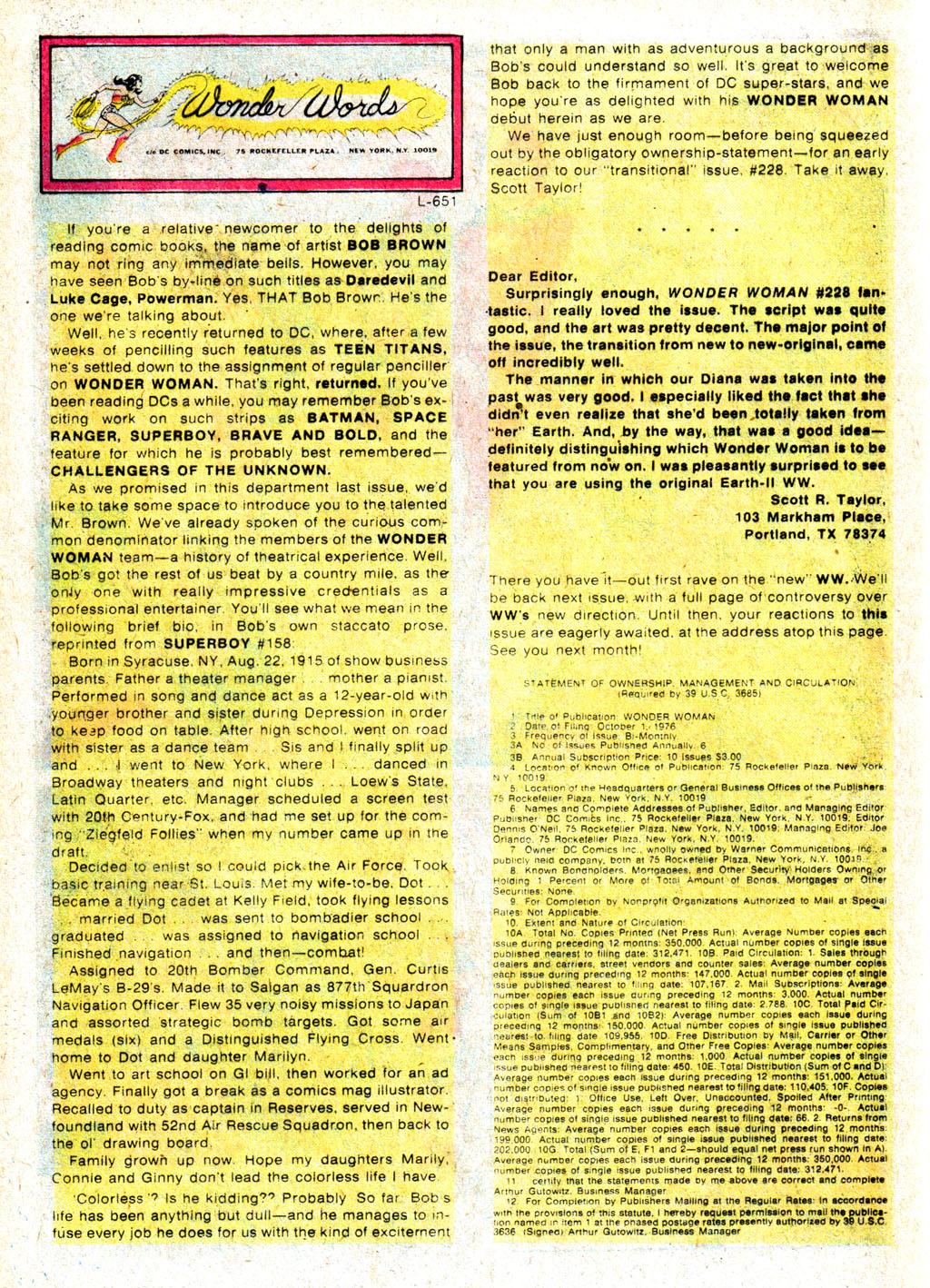 Read online Wonder Woman (1942) comic -  Issue #231 - 30