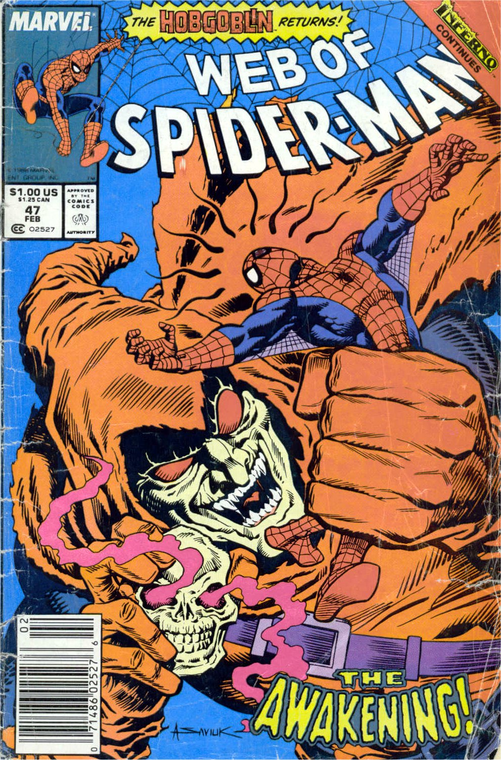 Web of Spider-Man (1985) 47 Page 1