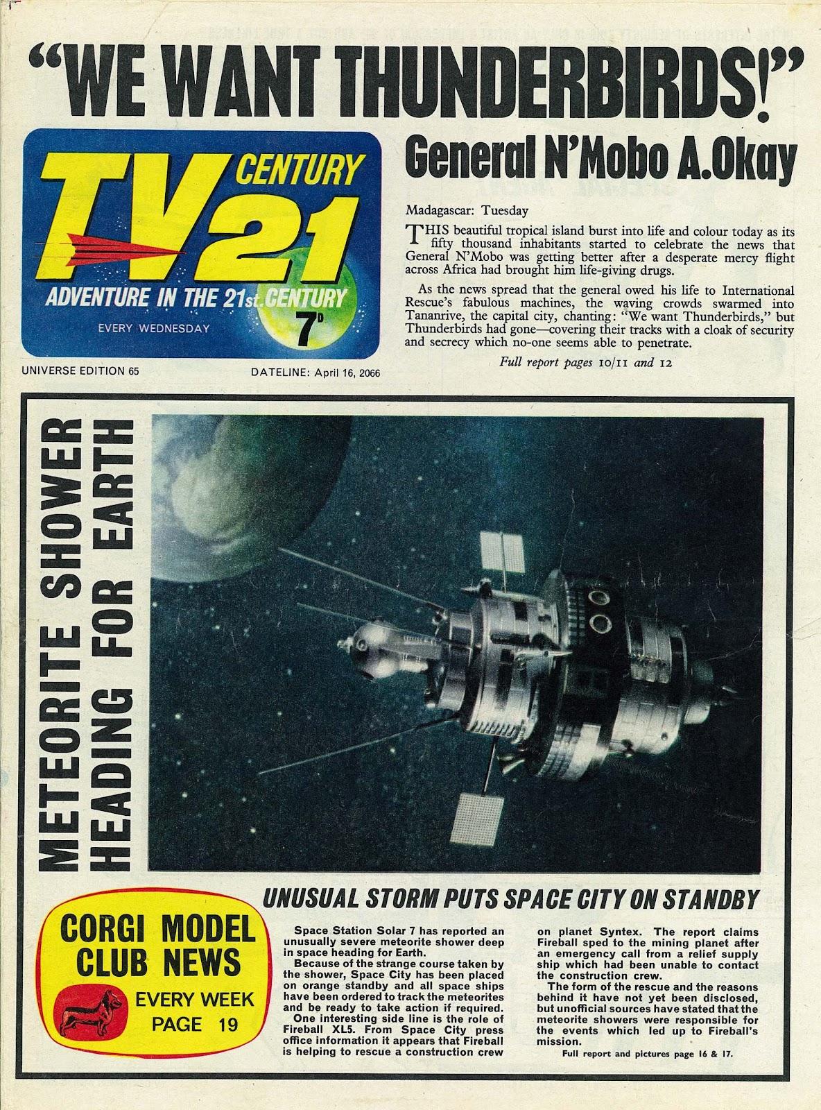 TV Century 21 (TV 21) issue 65 - Page 1