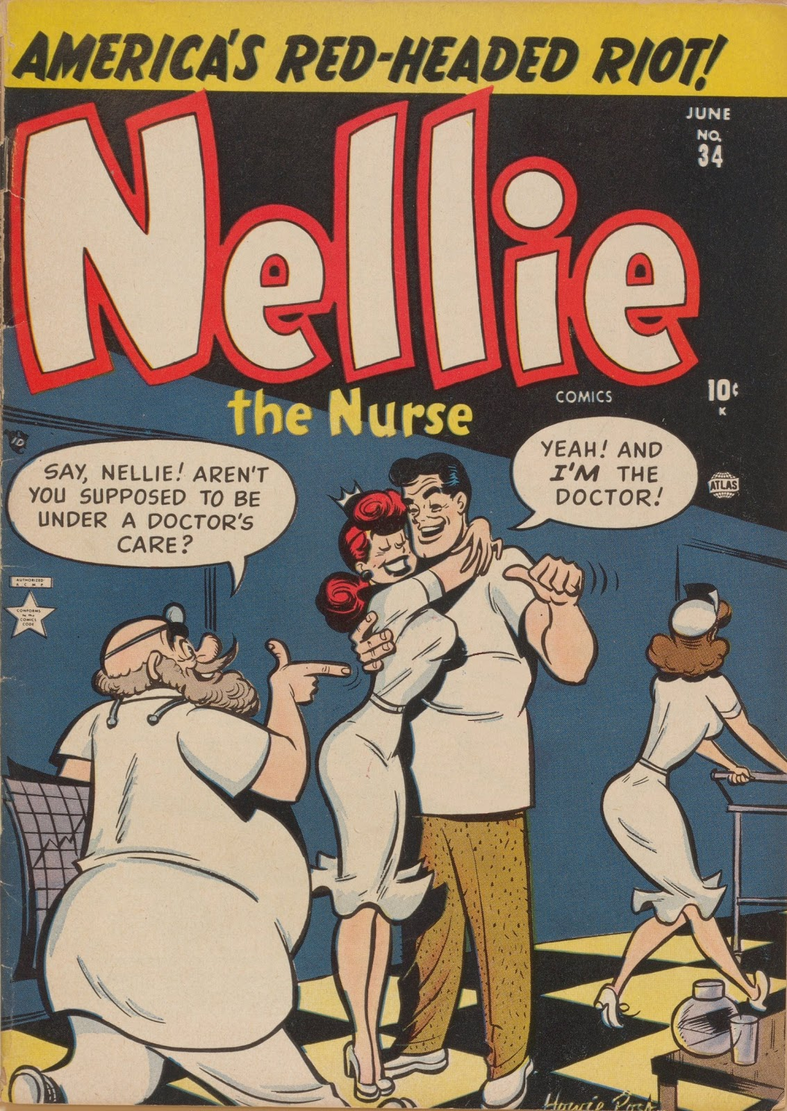 Read online Nellie The Nurse (1945) comic -  Issue #34 - 1