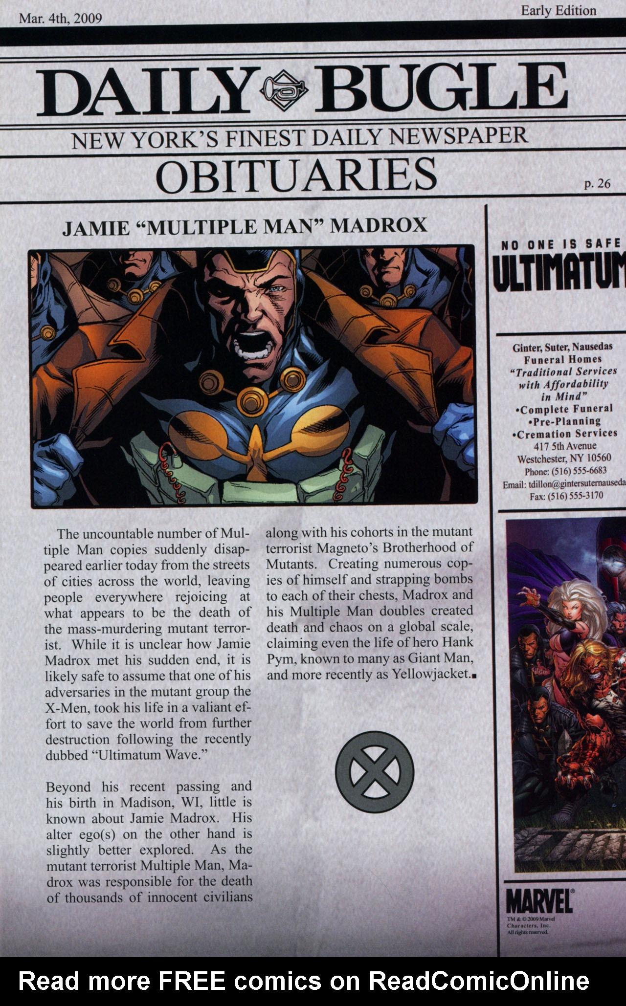 Read online Ultimatum: X-Men Requiem comic -  Issue # Full - 35
