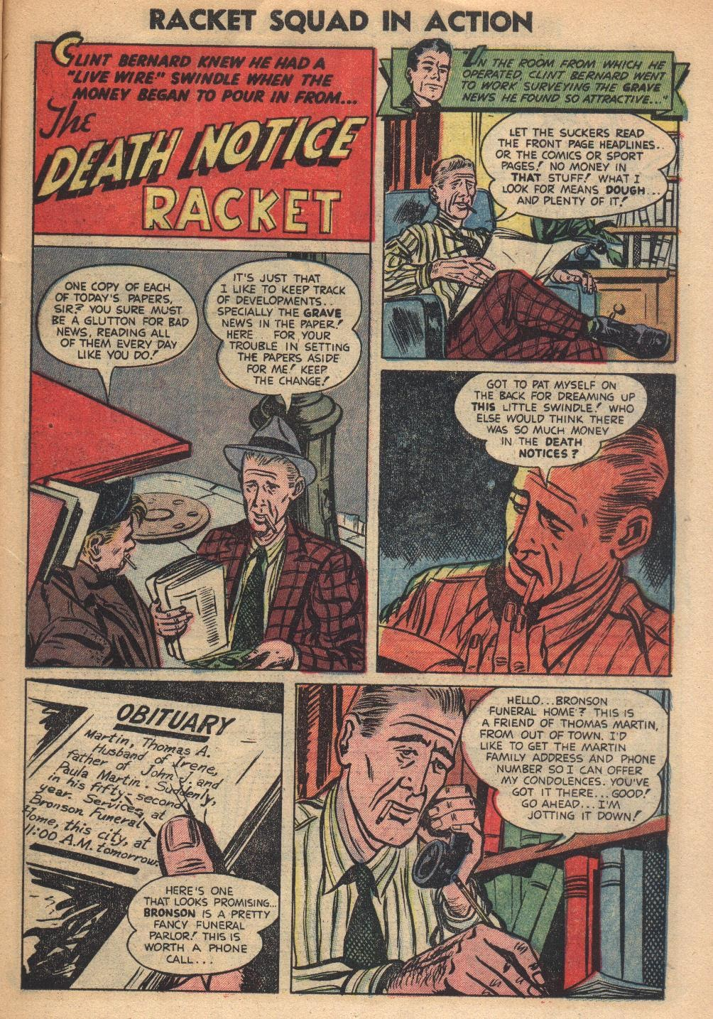 Read online Racket Squad in Action comic -  Issue #8 - 11
