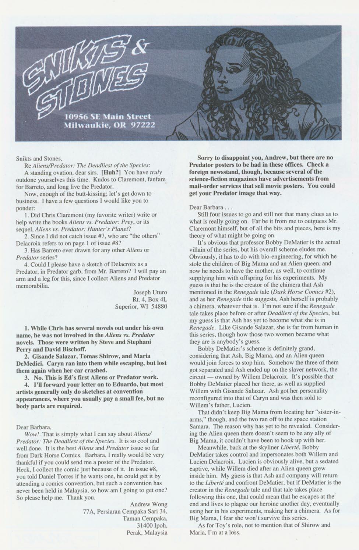 Read online Aliens/Predator: The Deadliest of the Species comic -  Issue #10 - 25