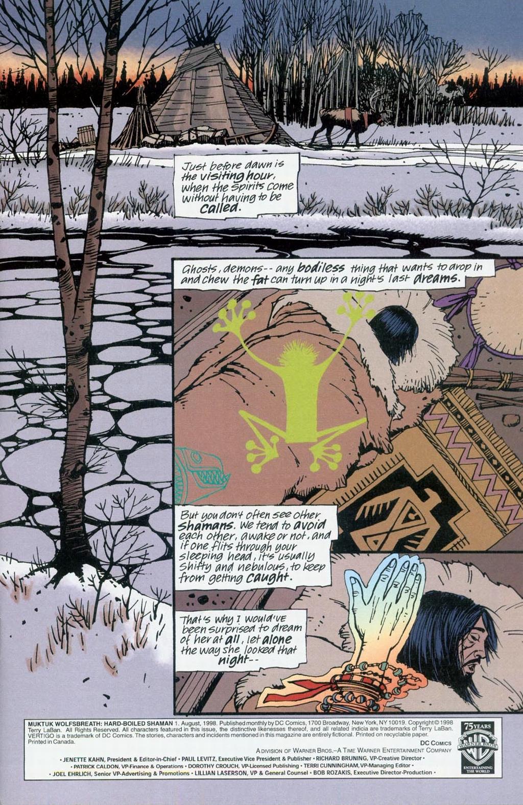 Muktuk Wolfsbreath: Hard-Boiled Shaman issue 1 - Page 2