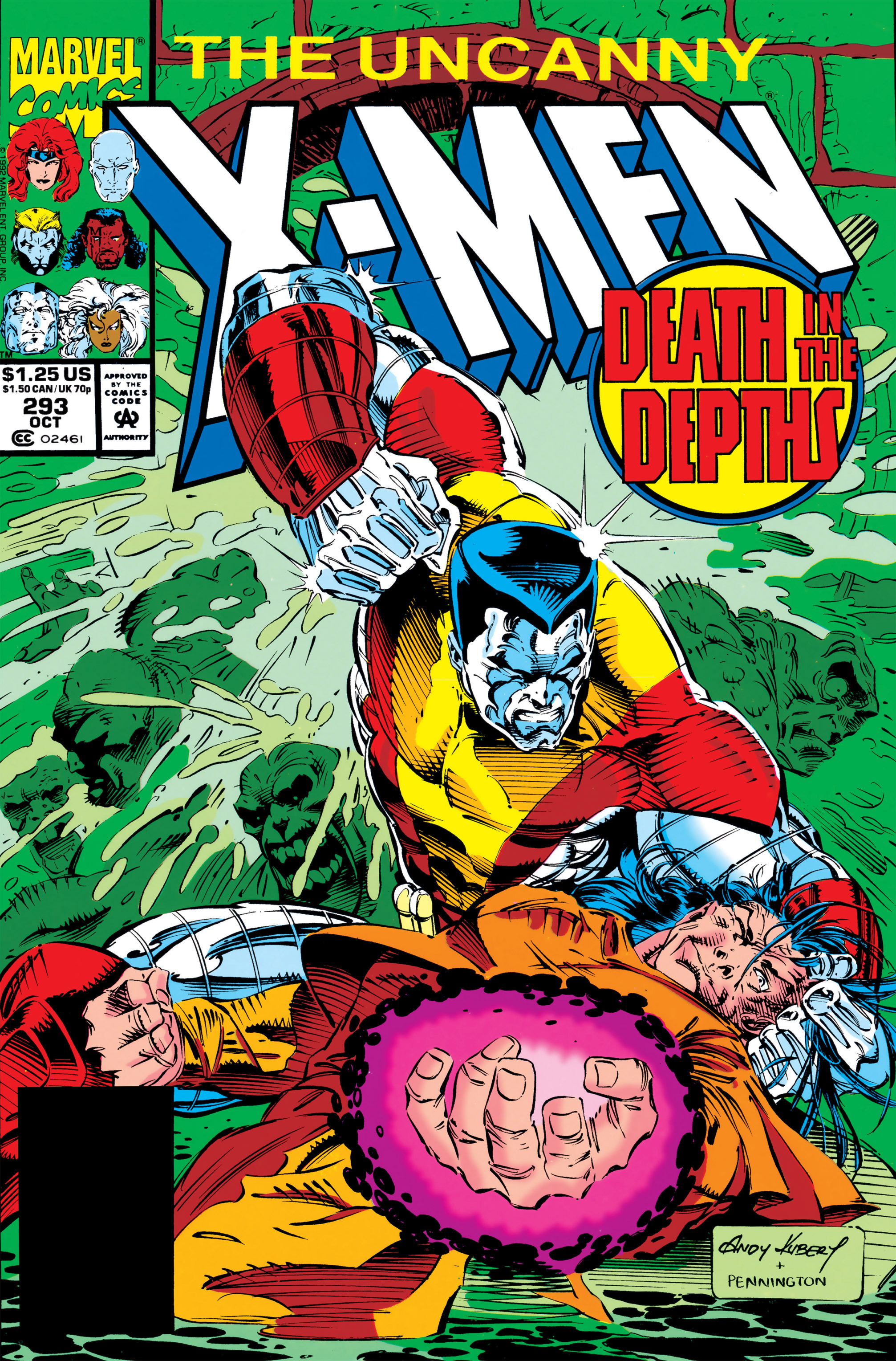 Read online Uncanny X-Men (1963) comic -  Issue #293 - 1