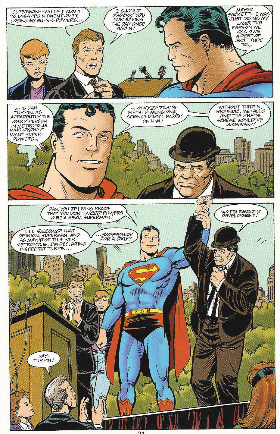 Read online Adventures of Superman (1987) comic -  Issue #559 - 22