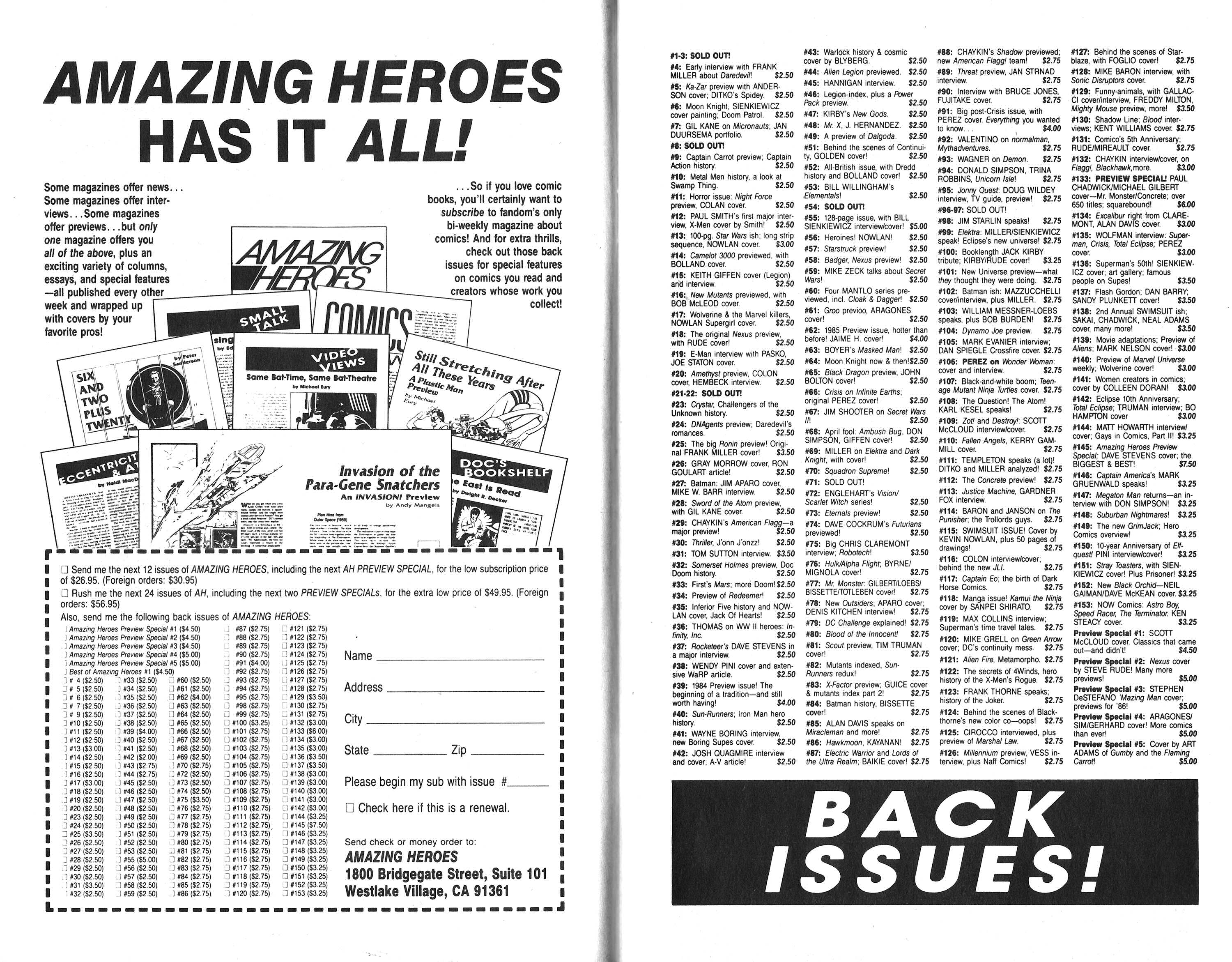 Read online Amazing Heroes comic -  Issue #160 - 7
