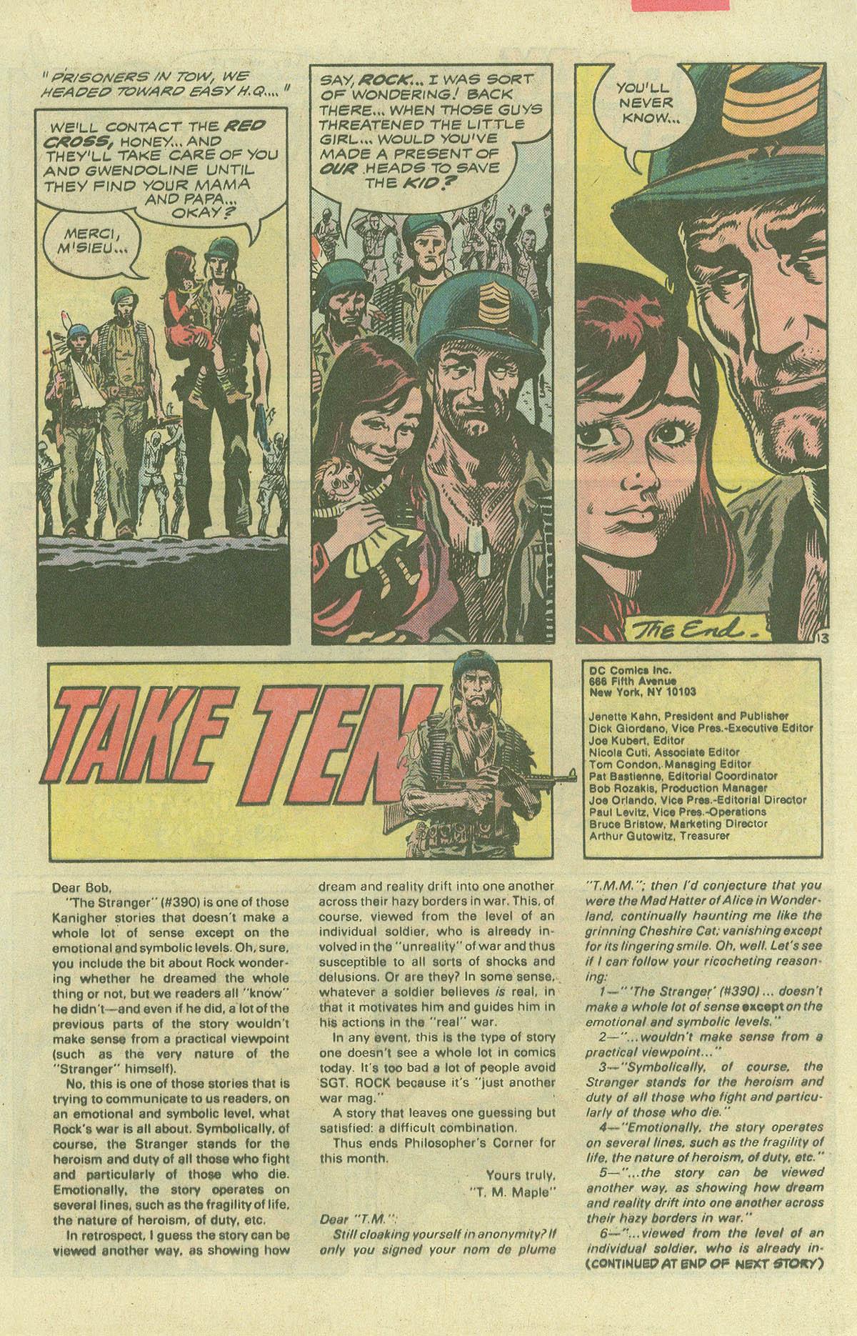 Read online Sgt. Rock comic -  Issue #396 - 16