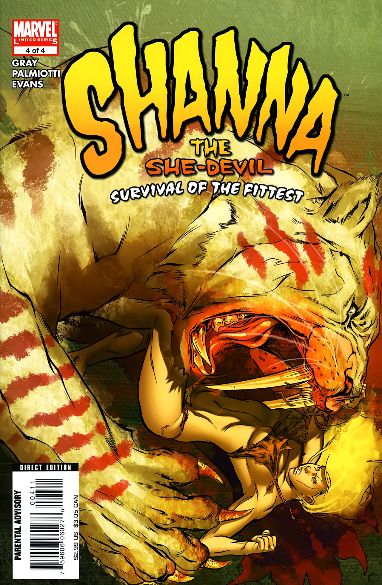 Read online Shanna the She-Devil: Survival of the Fittest comic -  Issue #4 - 1